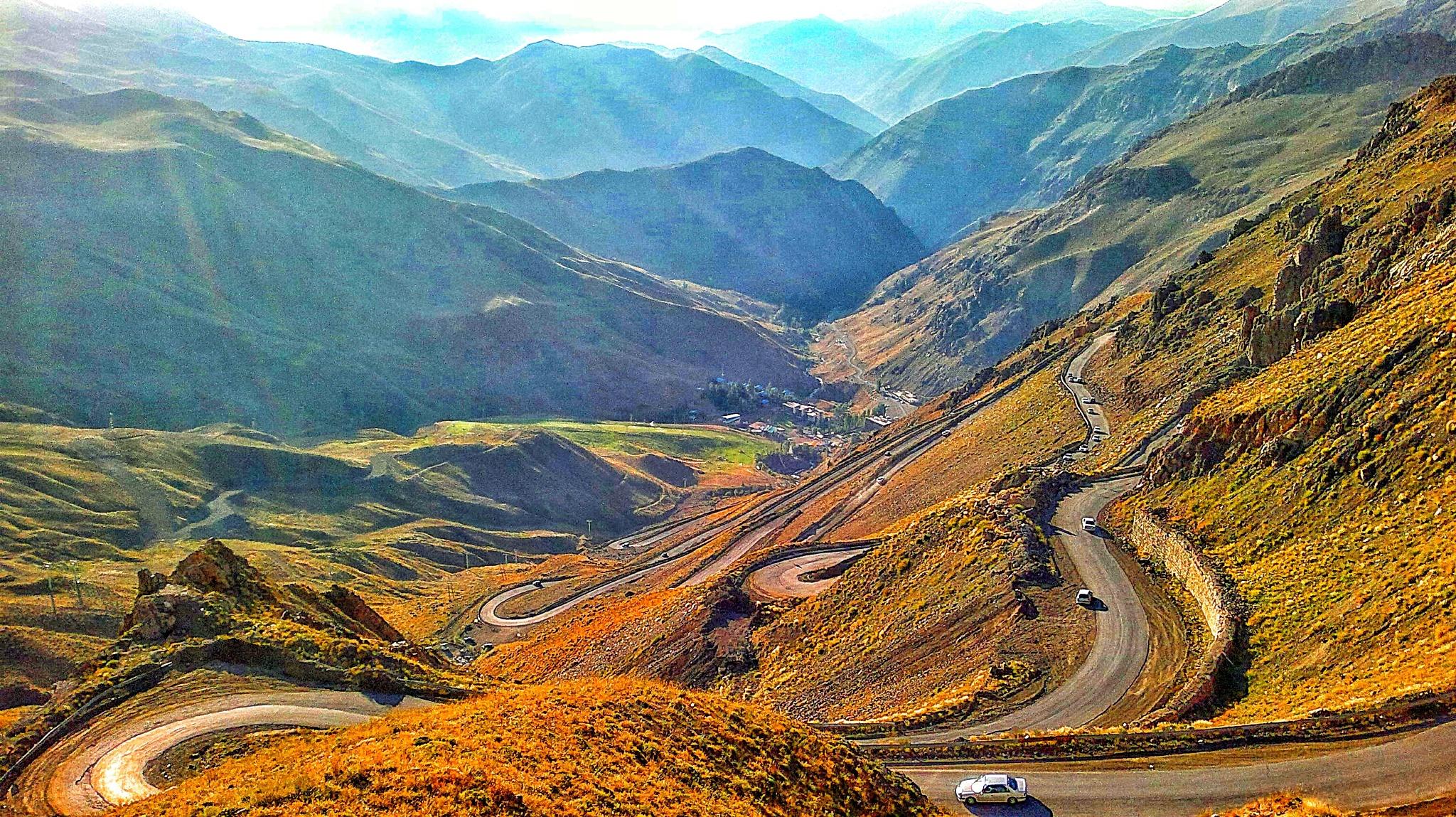 جاده  دیزین به شمشک  Road   Dizin, Shemshak by Ahmad Anvari