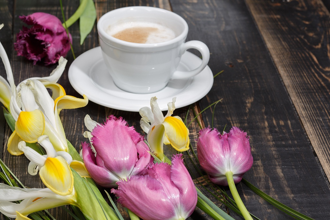 Flowers and coffee by Dmytro  Ostapenko