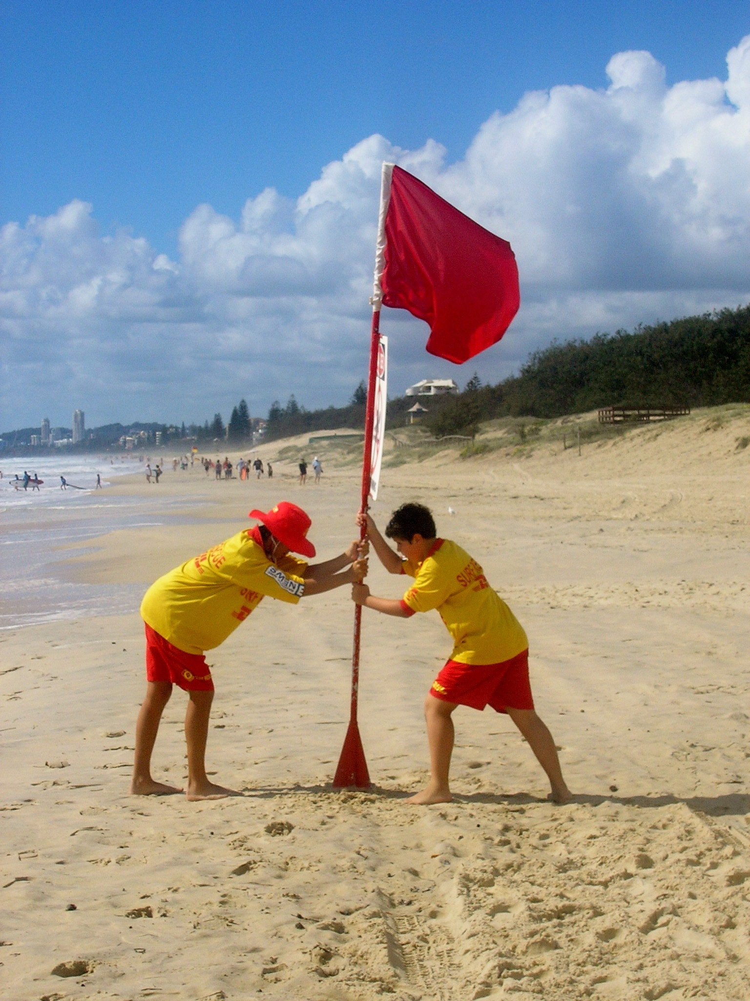 Life guards morning flag by Marlene McNally