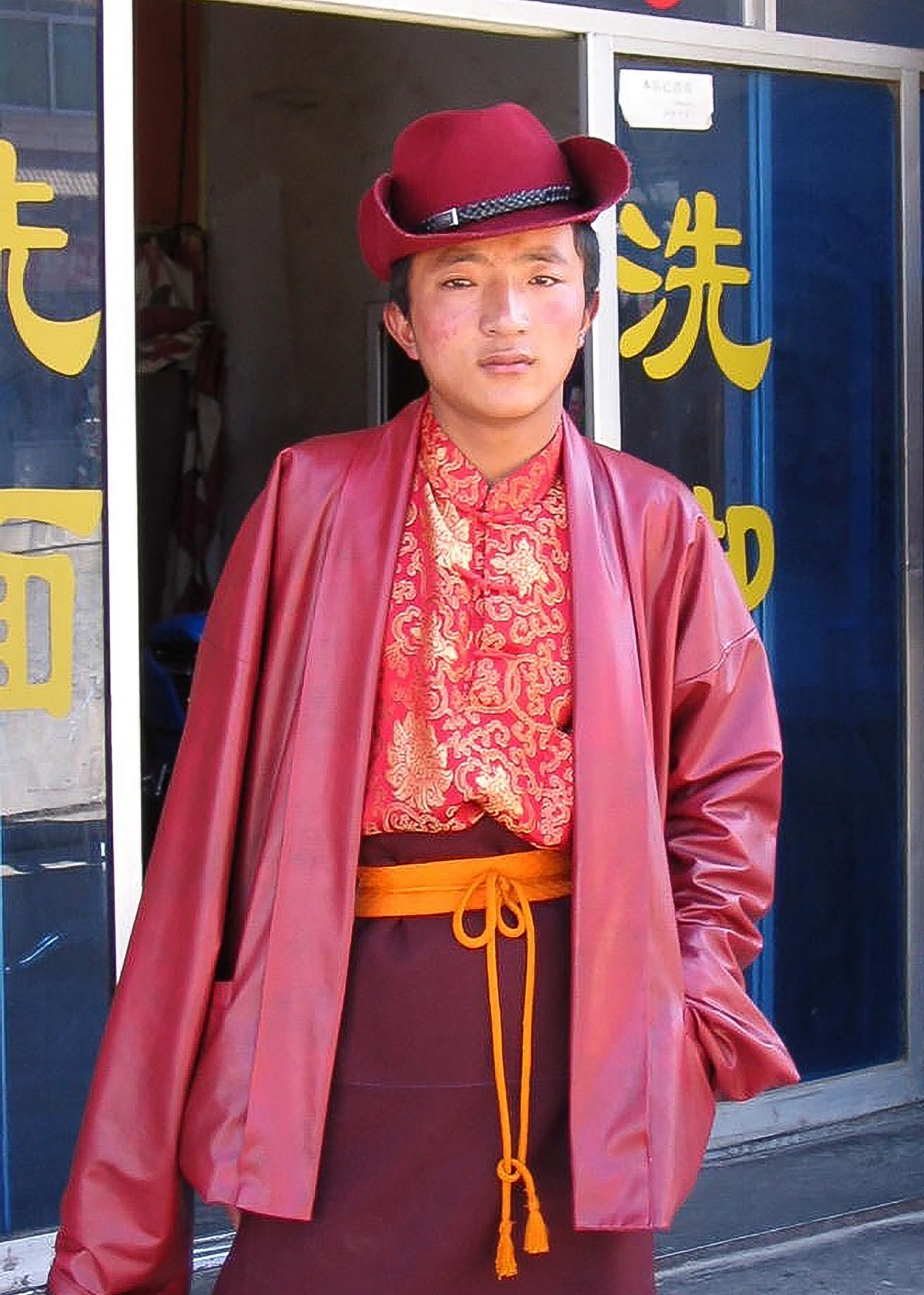 Kampa Tibet Portrait by Jeffrey Roe