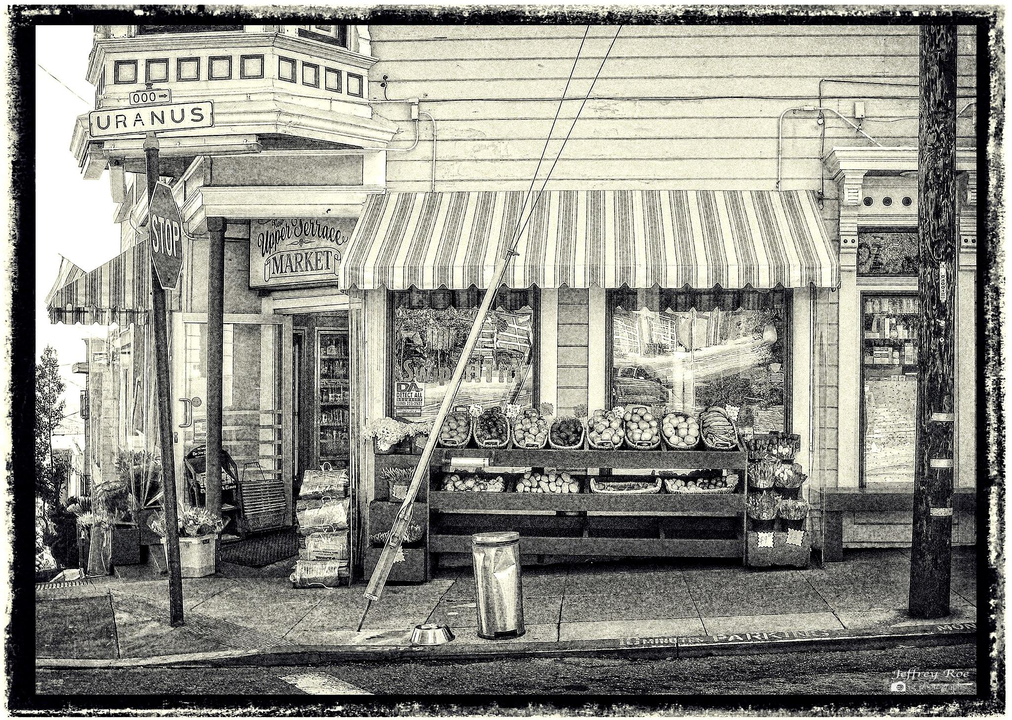Upper Terrace Market (adult joke included in description) by Jeffrey Roe
