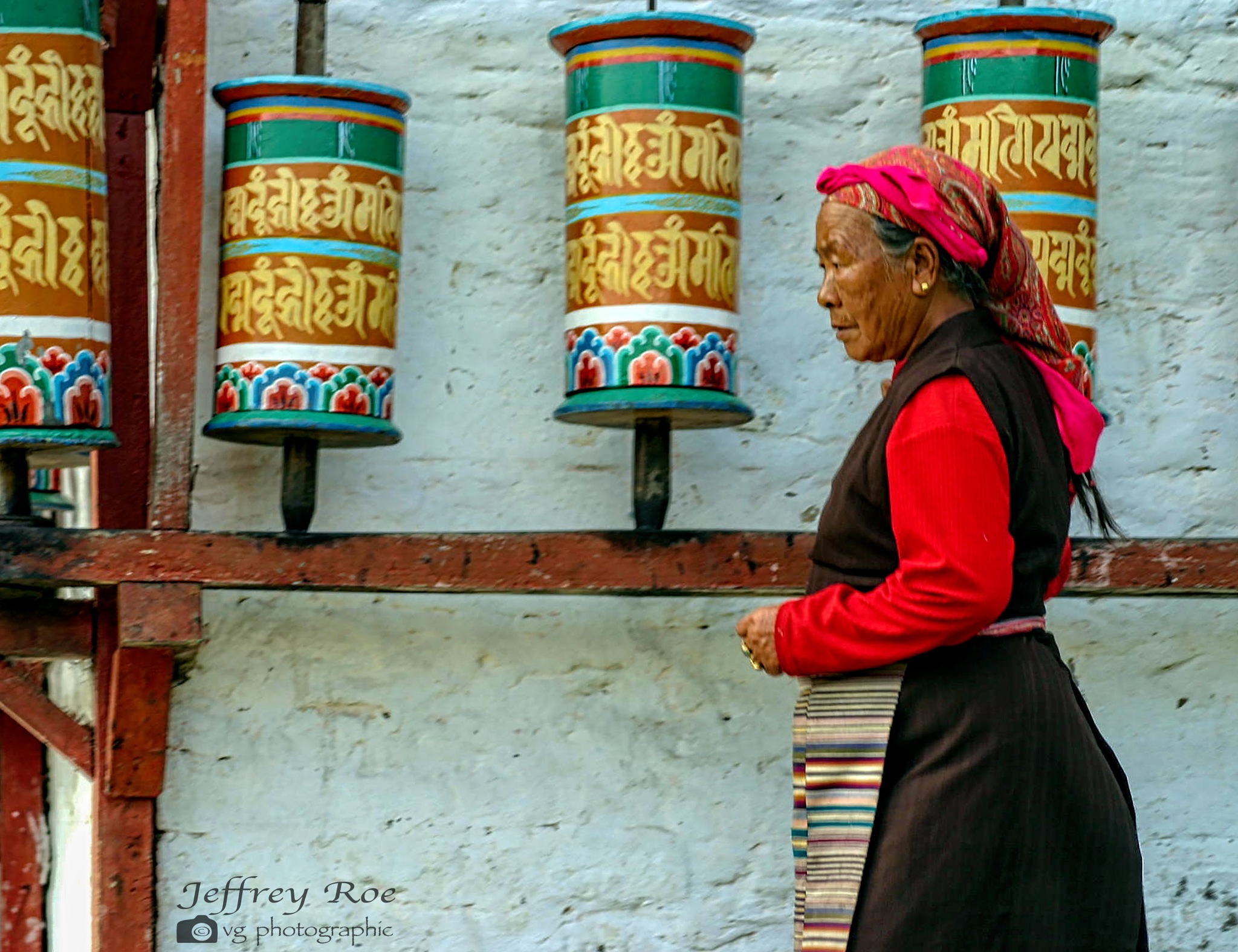 Turning the Prayer Wheels For the Benefit Of All by Jeffrey Roe