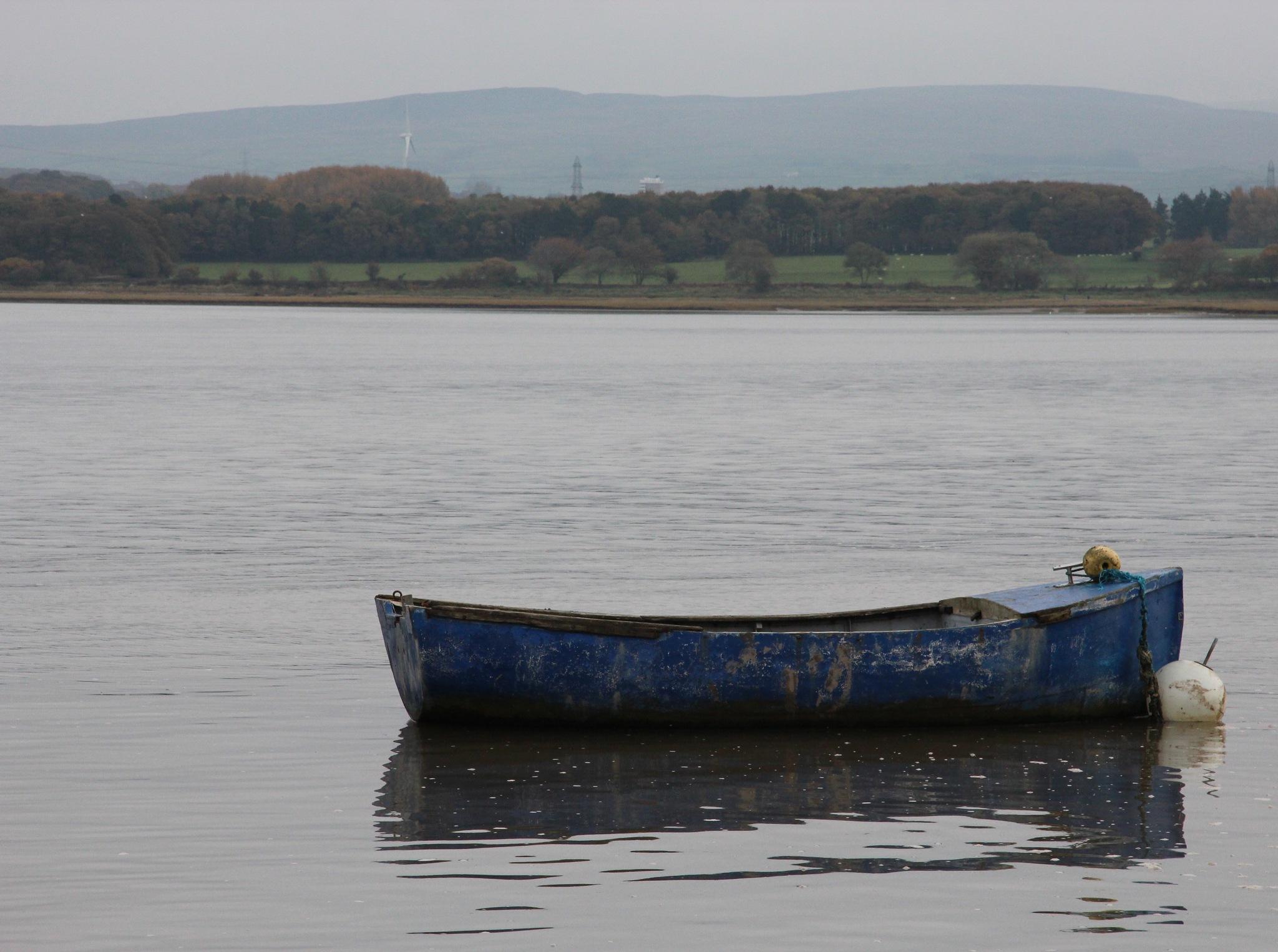 Blue boat 2 by Amanda Gardner