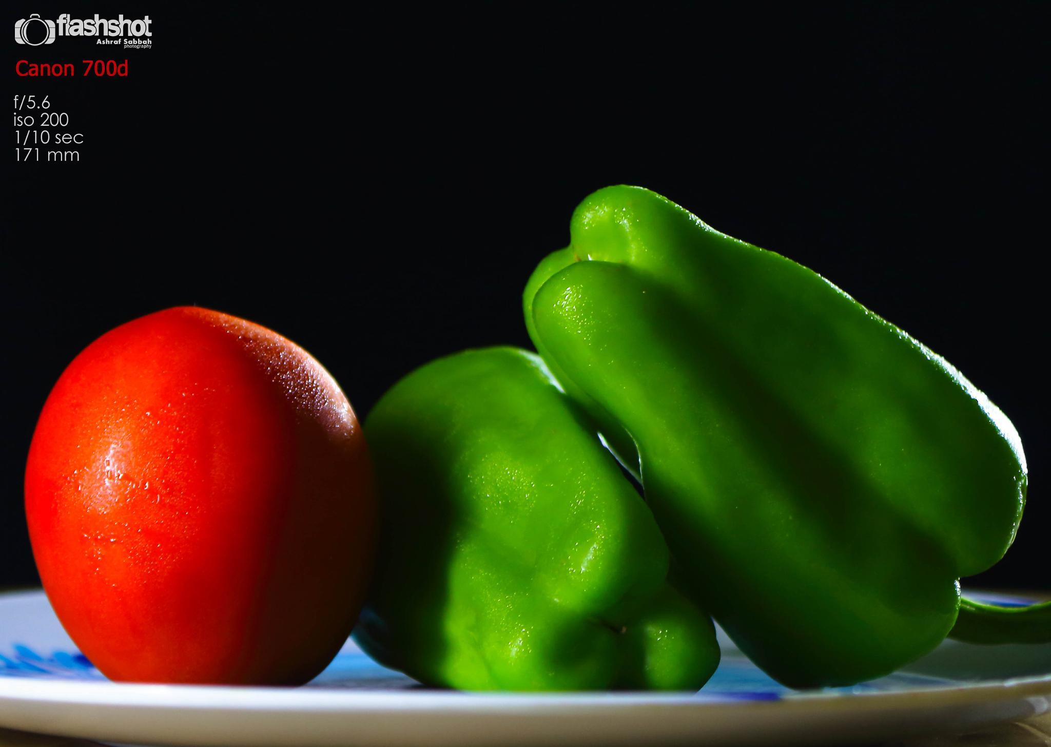 A family of vegetables by Ashraf Sabbah