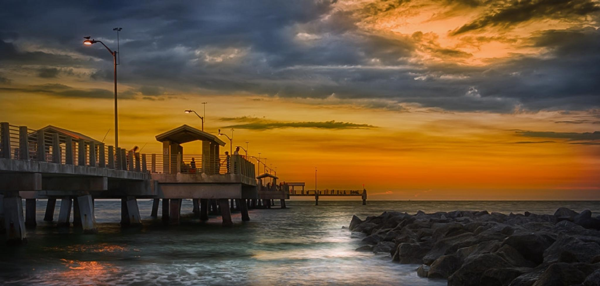 Sunset on the Pier by Viceroy