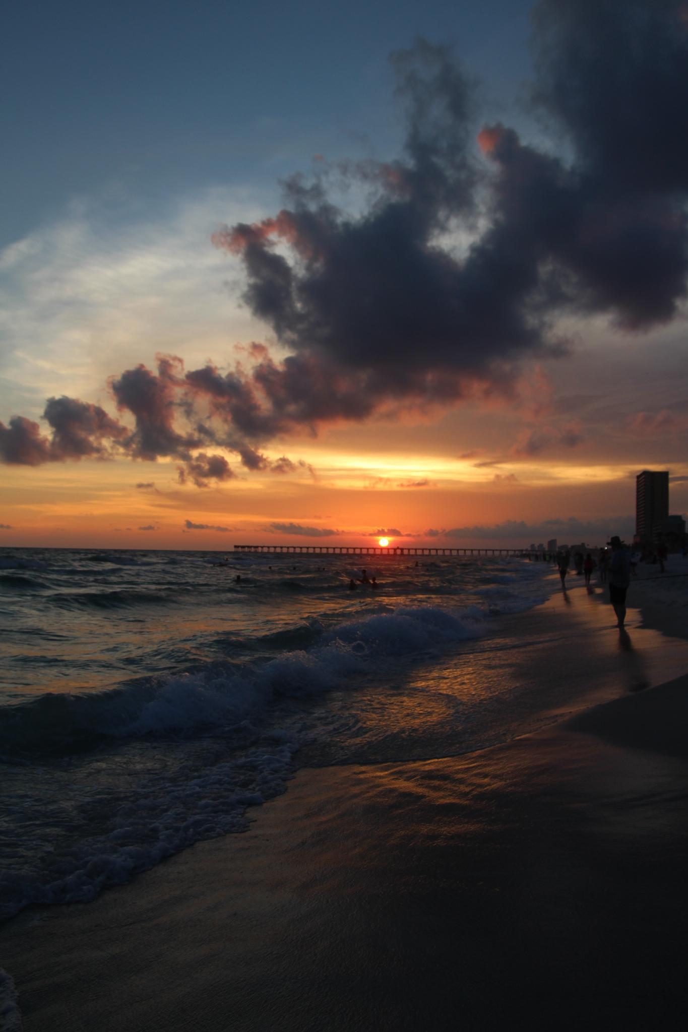 Panam city beach - sunset by NikolaSmidova