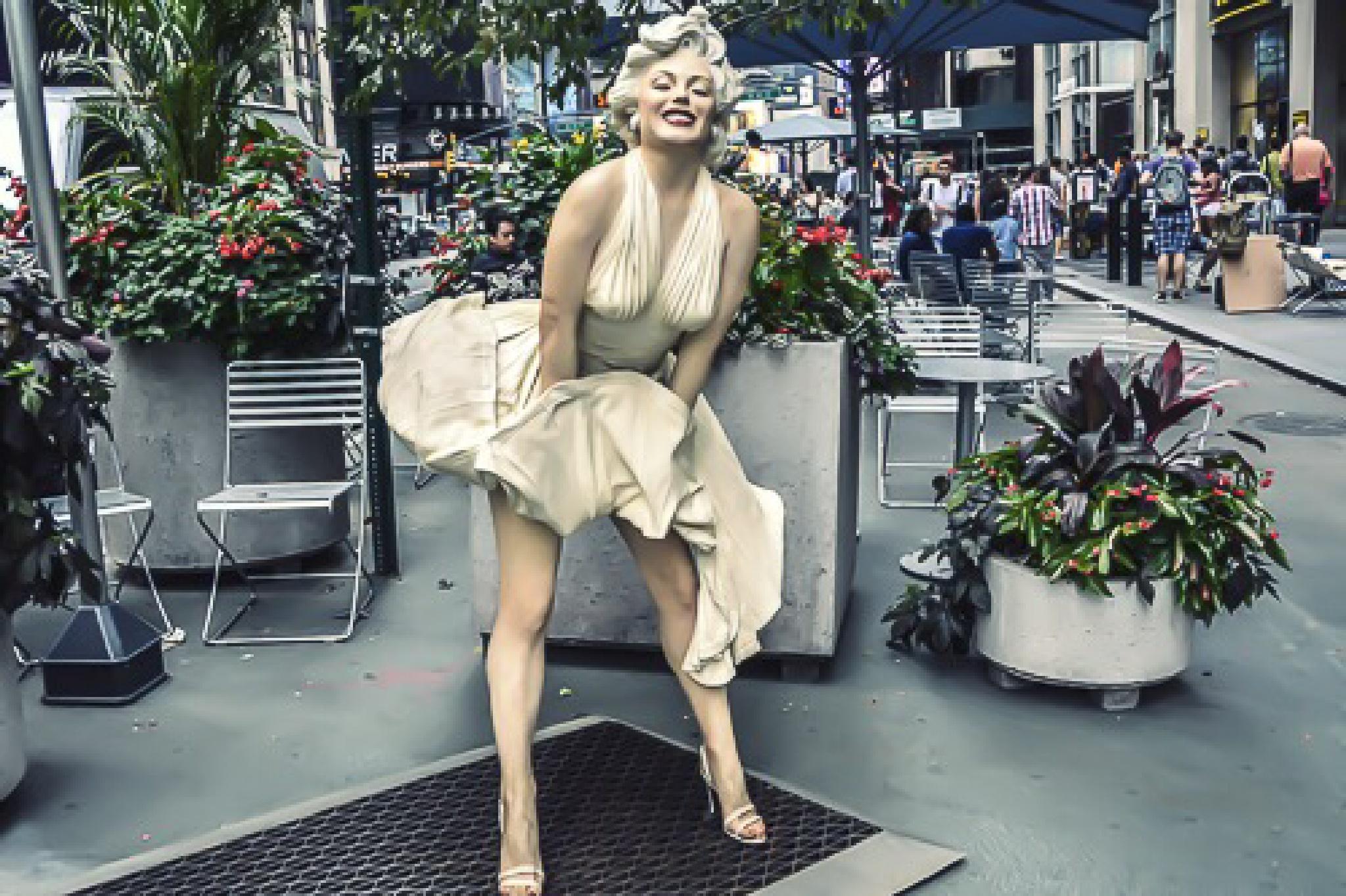MM Street Art in New York City by Seward Johnson  by Sharon Winter-Schorr