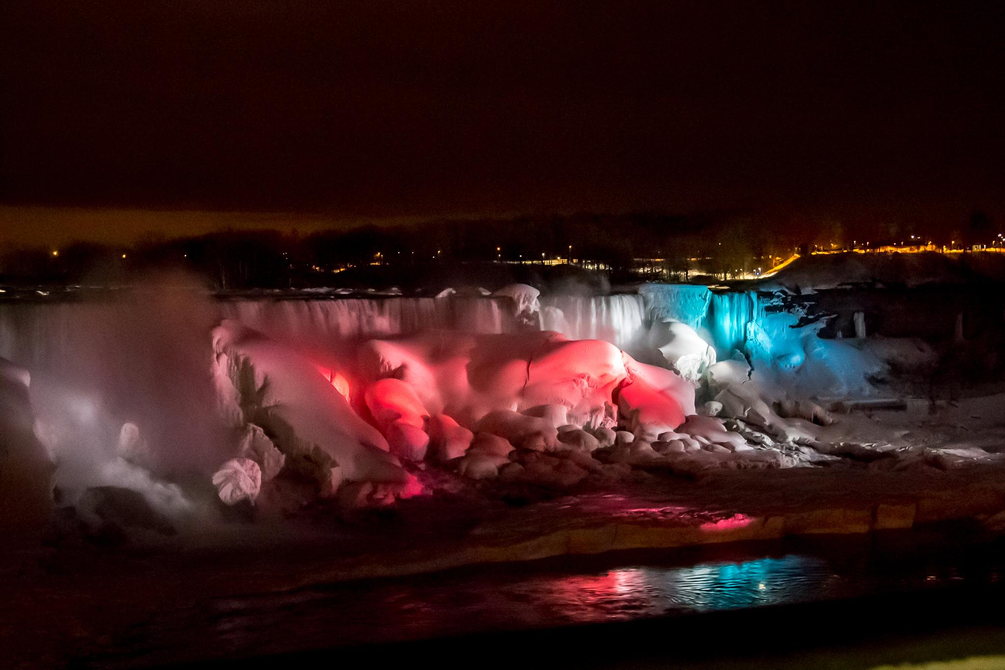 American Falls night colours by stephenhops