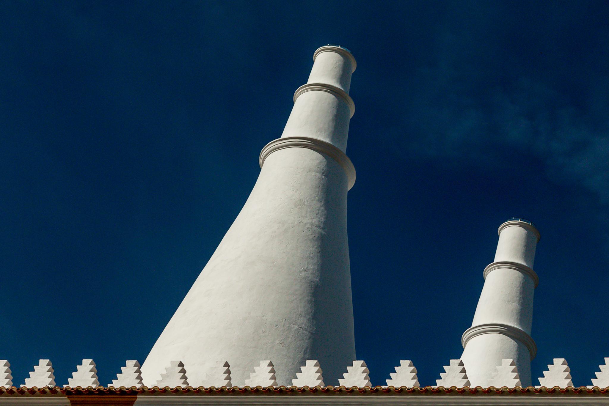 Chimneys of Sintra National Palace by stephenhops