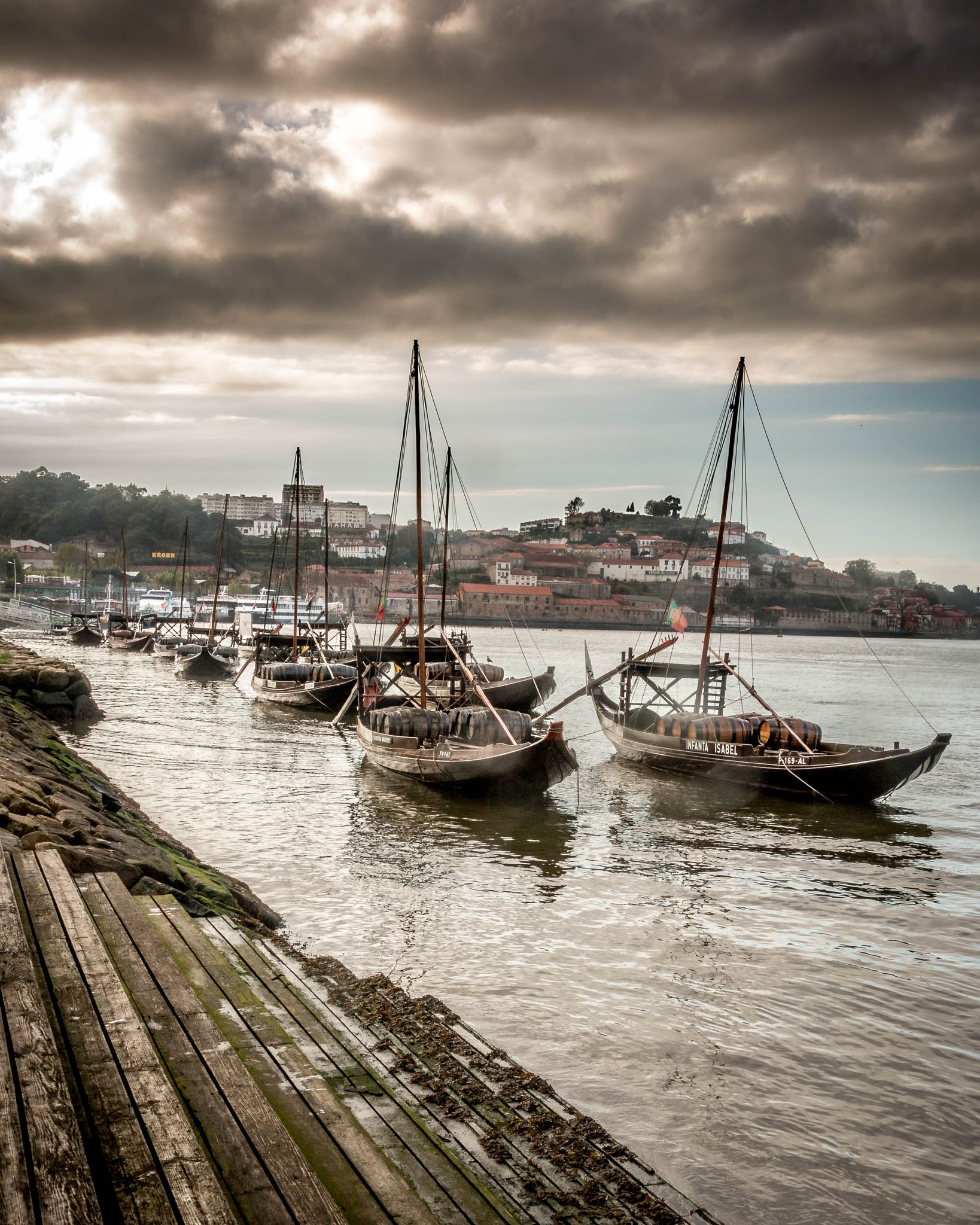 Wine boats on the Douro River by stephenhops