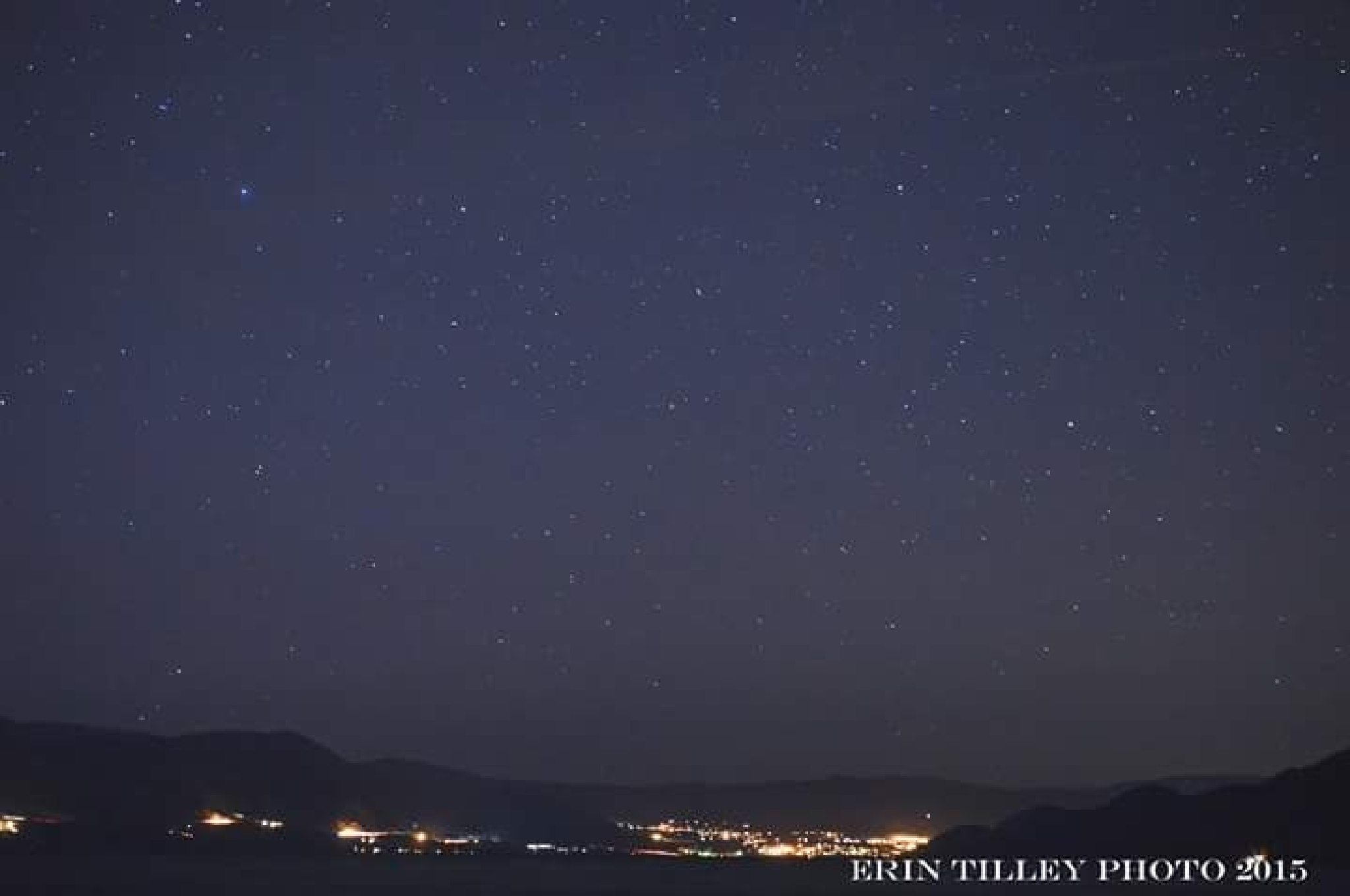 Stars over the lake  by Erin Tilley Photography