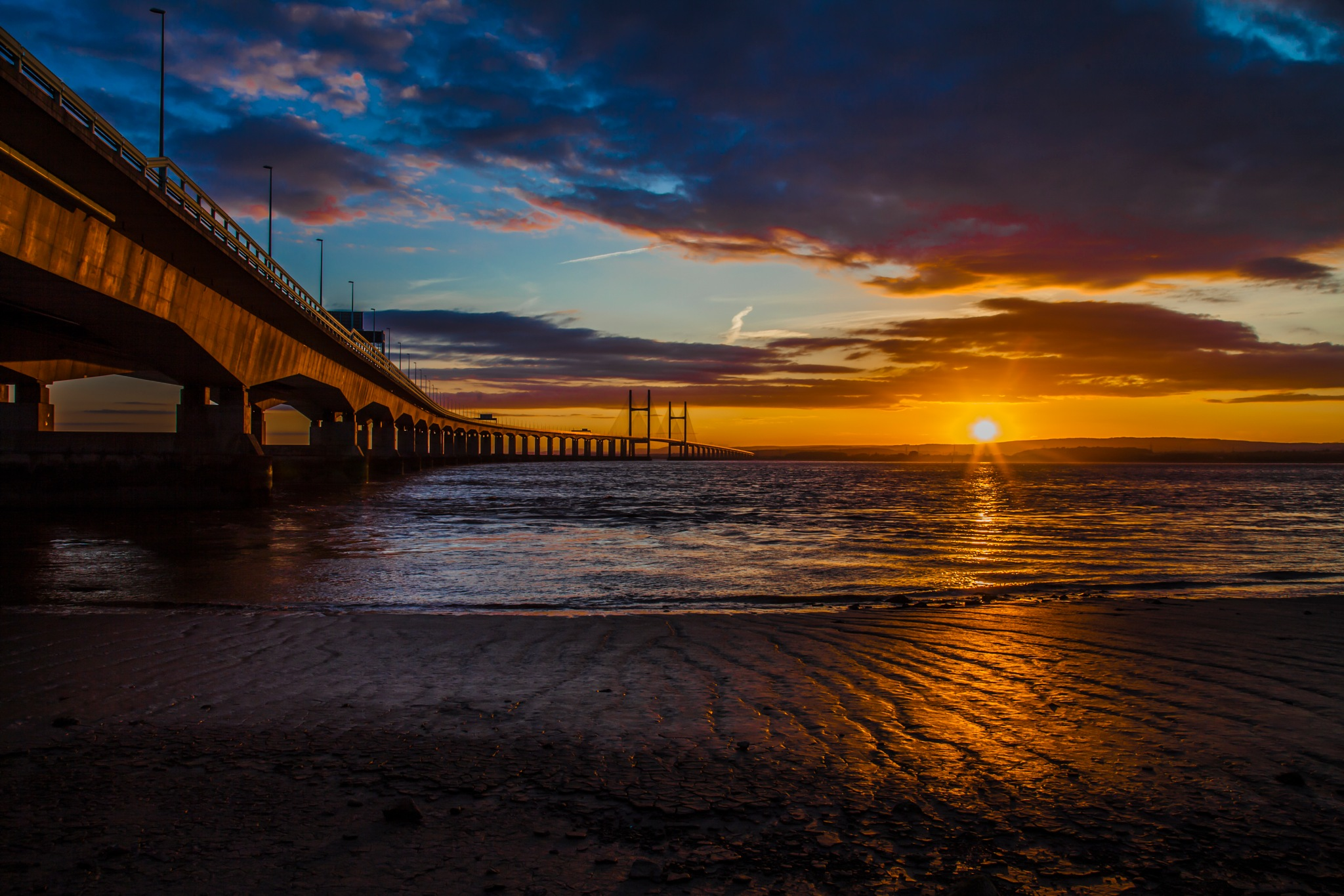 Sunset on the Severn  by Sue Summers
