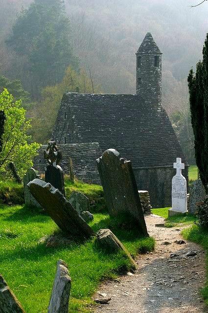 Abandoned Church, Glendaloch in County Wicklow, Limerick,  Ireland. by Christine Power