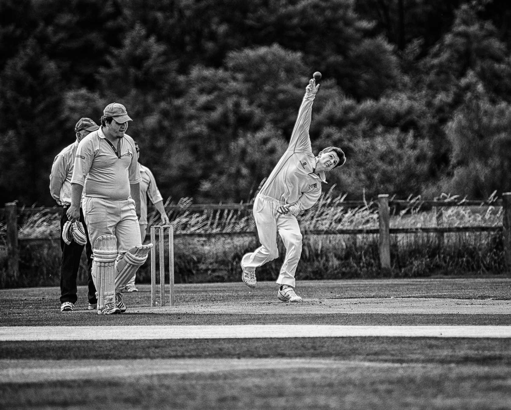 Village Cricket on an English Summers day by Wantie
