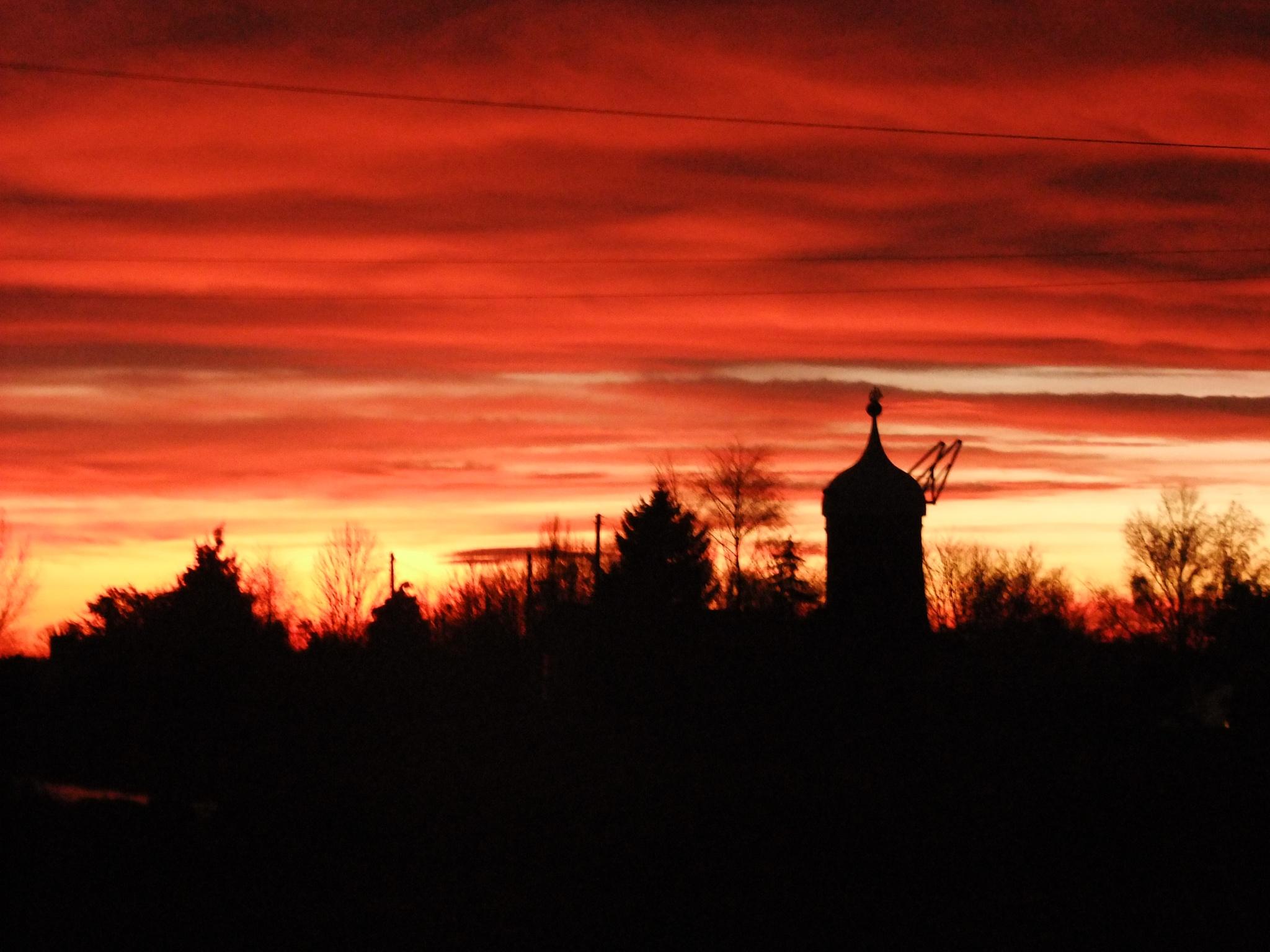 The Mill at Sunset by Charlotte Kehlan Kebbell
