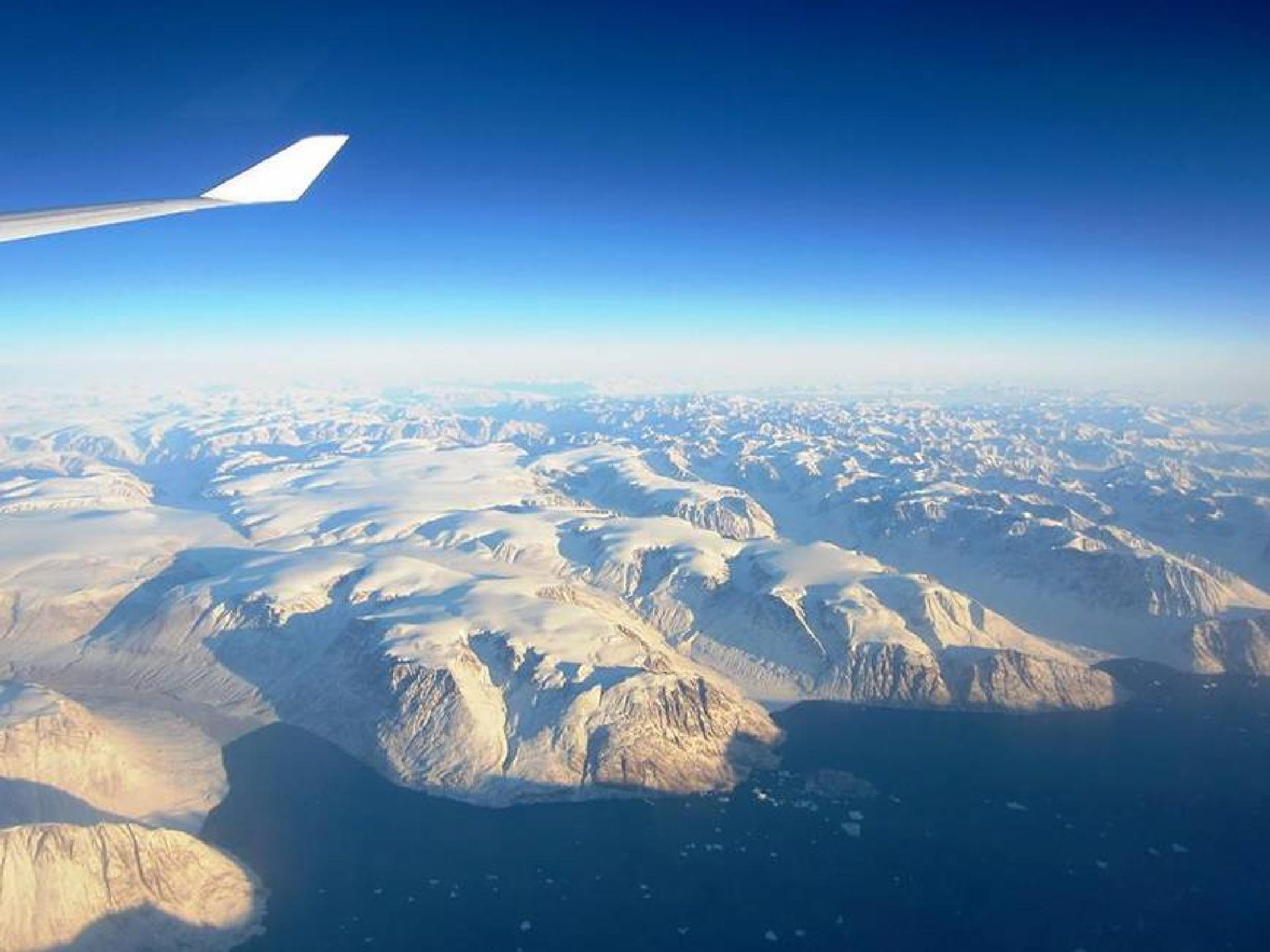 Over Iceland by kate1480