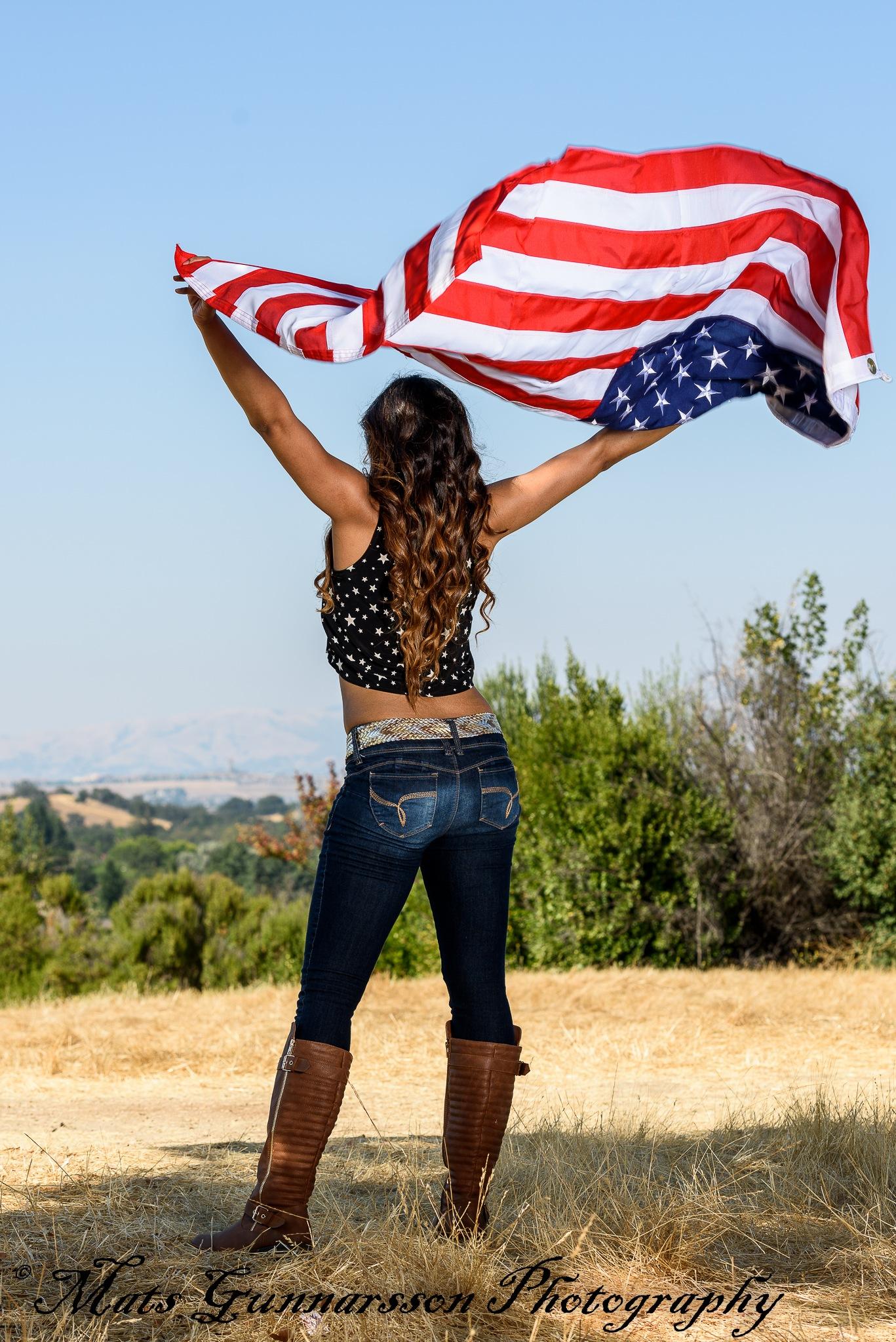 Proud American Flag bearer by MatsGunnarssonPhotography