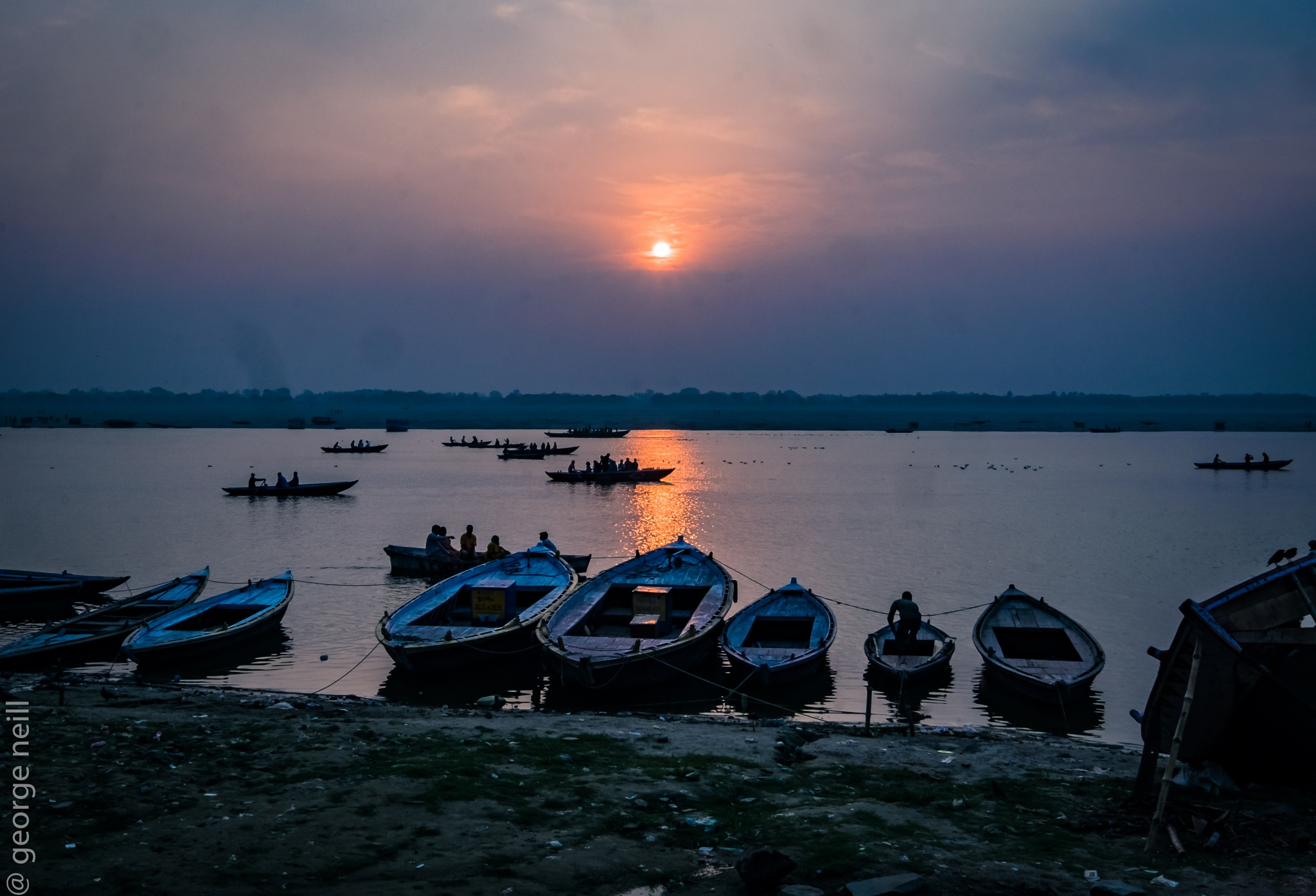 More boats on the Ganges by George Neill