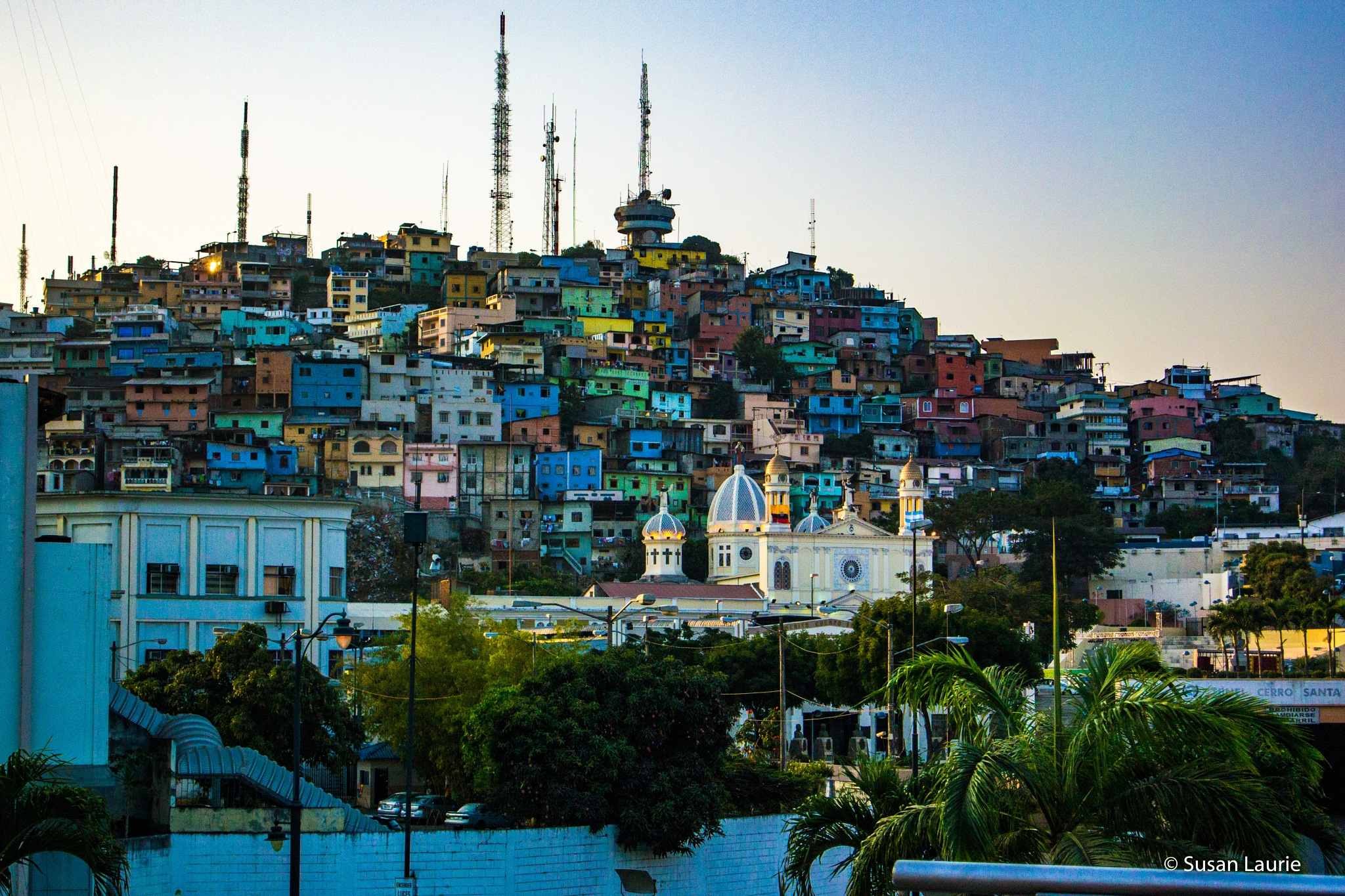 Ground View of City In The Mountain by Susan Laurie