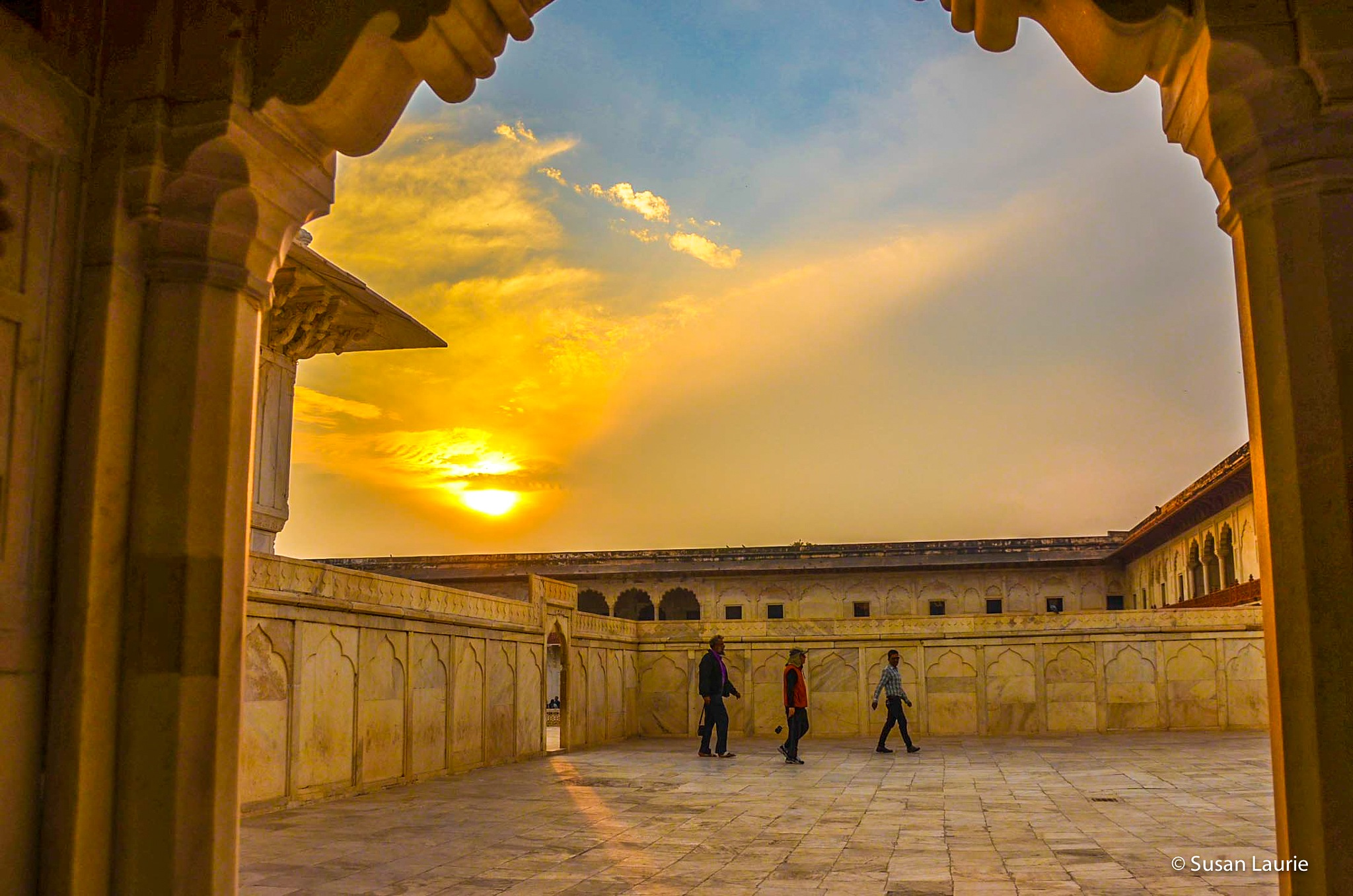 Sunset in Agra by Susan Laurie