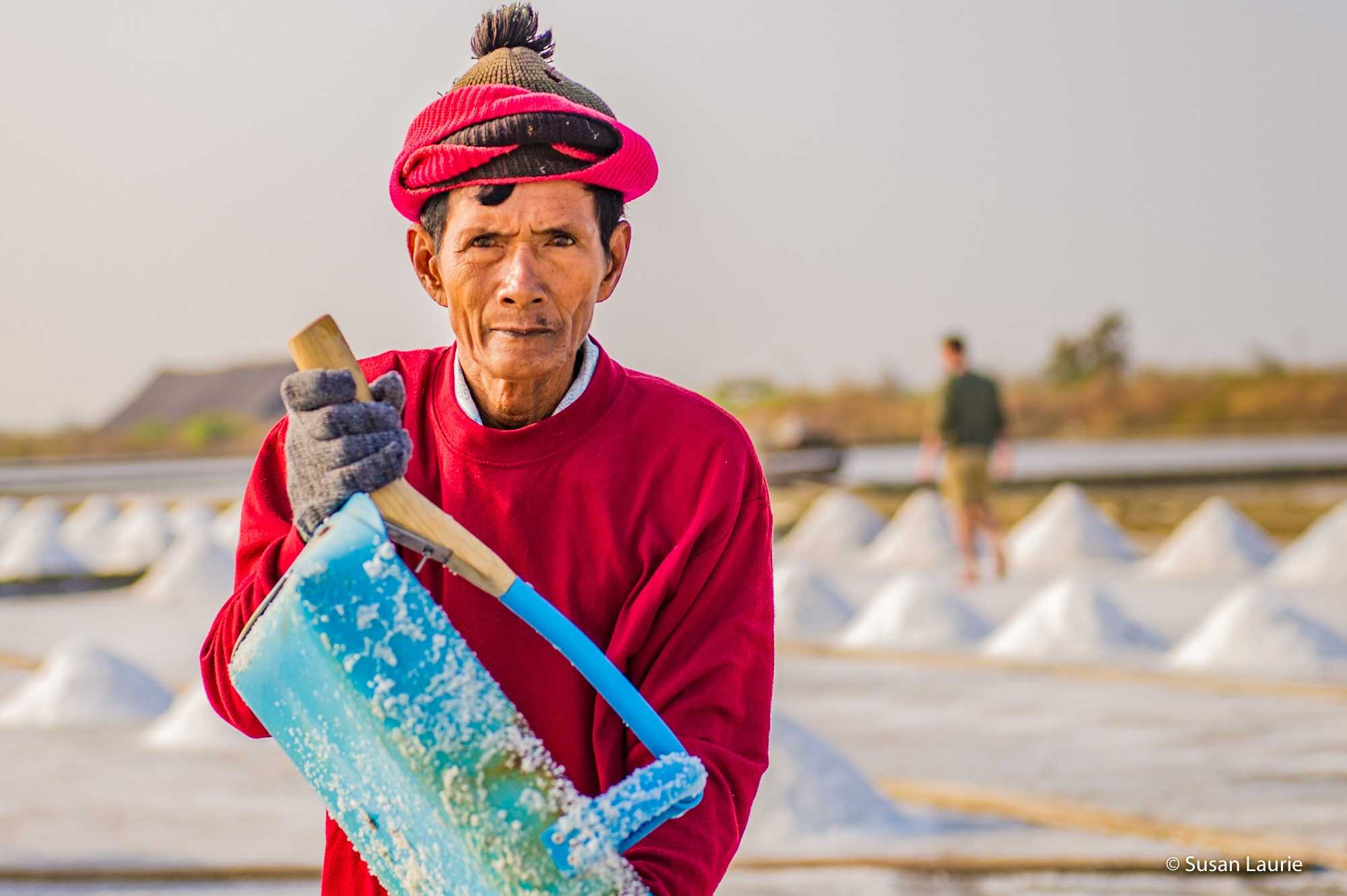 Thailand Salt Fields by Susan Laurie