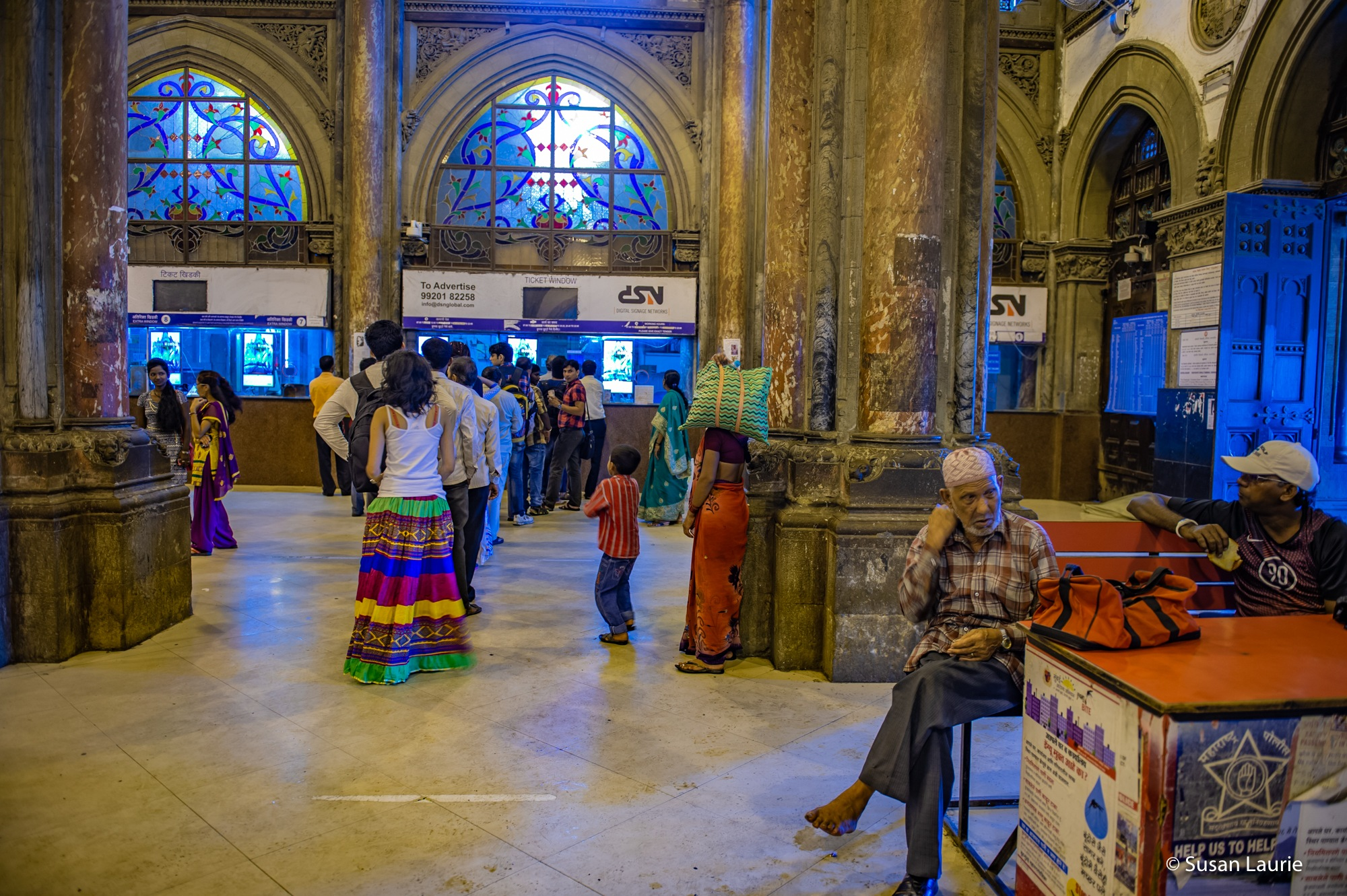 Mumbai Train Station by Susan Laurie