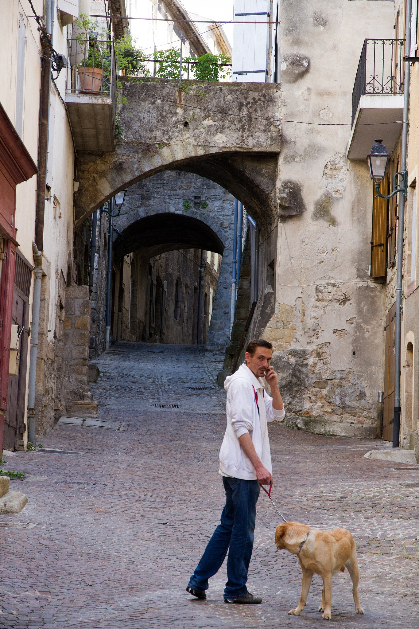 Which way to go? A street in Aubenas by Fred Mellink