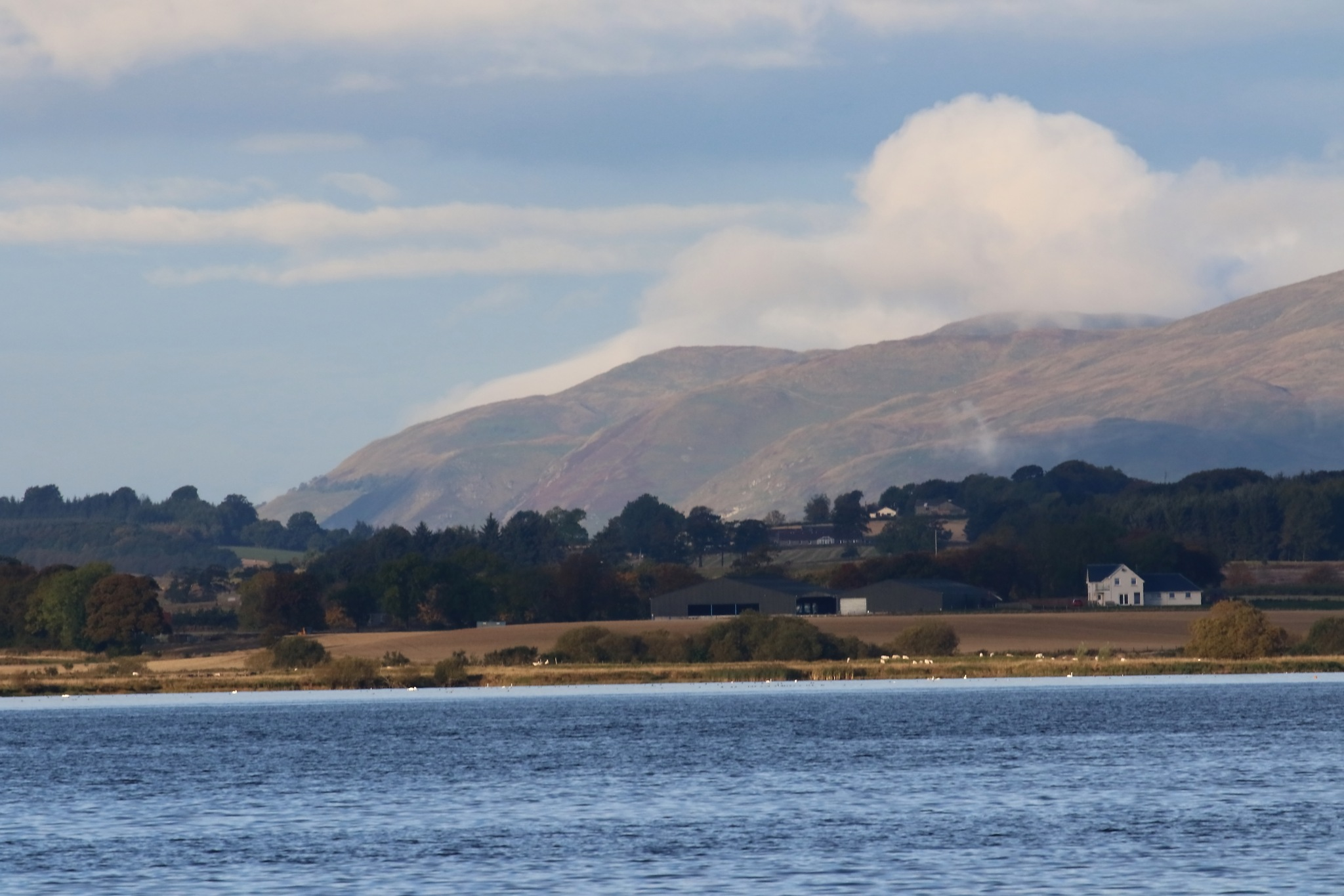 Loch Leven and the Ochil Hills by annecotton