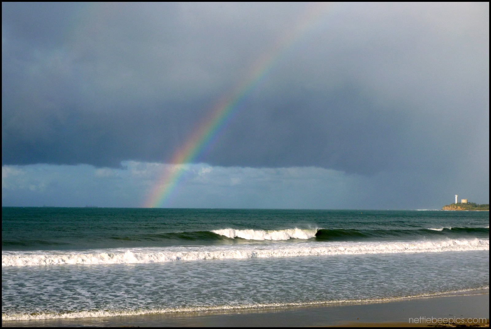 Rainbow and Waves by Nettie Bee
