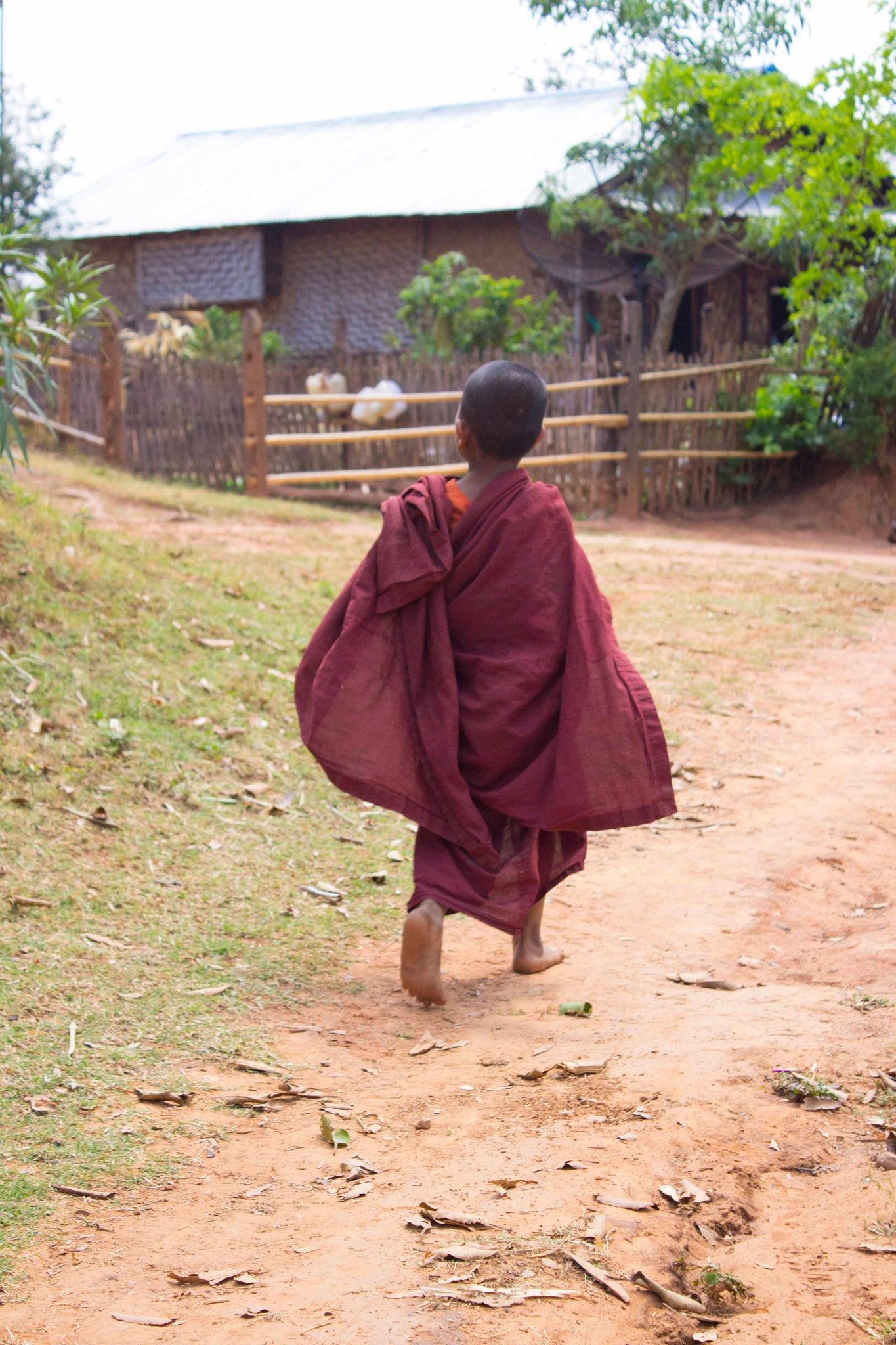 Child monk by Malin Wagland