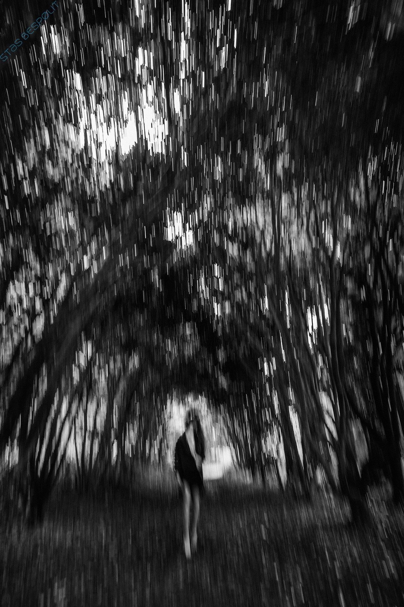 Photo in Black and White #woman #girl #ghost #haunted #supernatural #forest #dark #night #sexy
