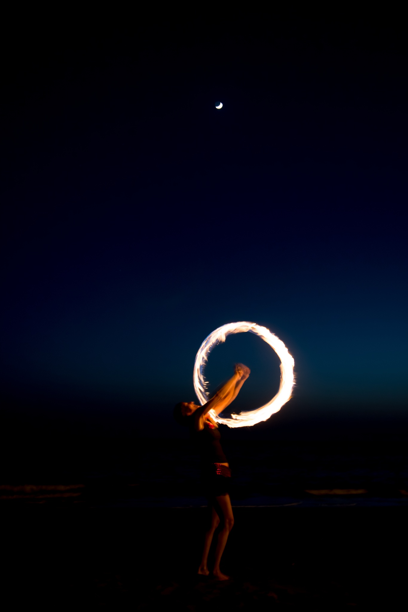 Daily Fire and Jumbe show on the beach of Valle Gran Rey - La Gomera by Chamkhi Jamil