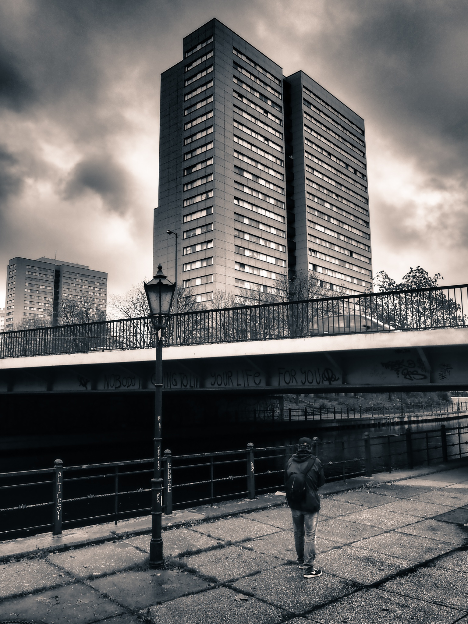 Berlin Bridge Building Black & White by Jeans Brown Photography / Jens Schwarz