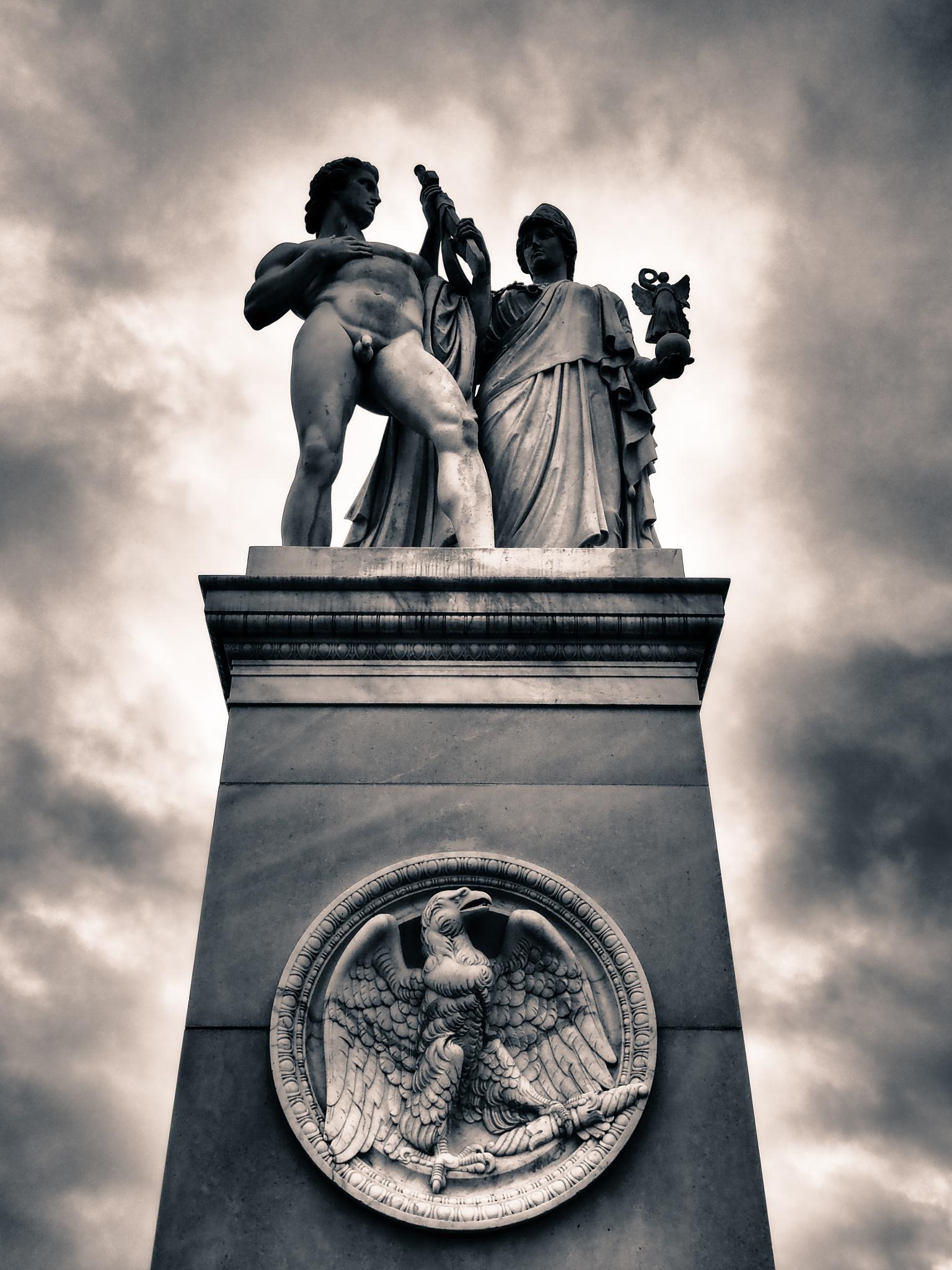Berlin Bridge Statue Black & White by Jeans Brown Photography / Jens Schwarz