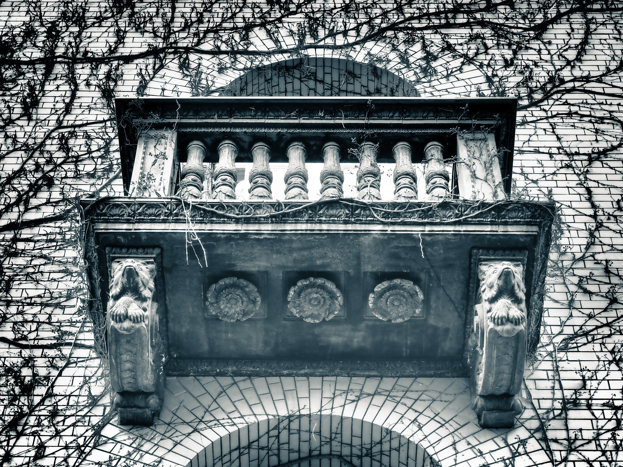 Berlin Balcony Black & White by Jeans Brown Photography / Jens Schwarz