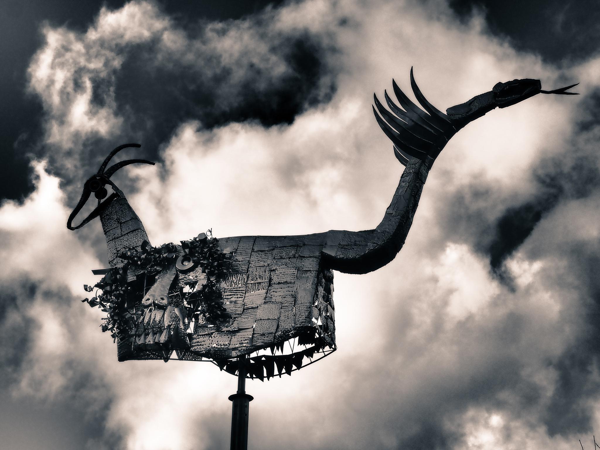 Berlin Flying Steel Horse Black & White by Jeans Brown Photography / Jens Schwarz