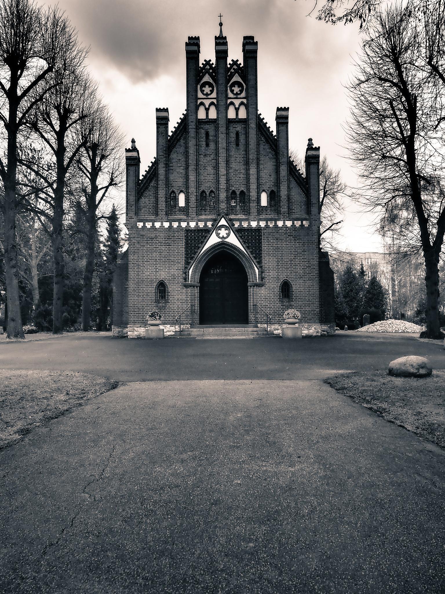 Berlin Little Church Black & White by Jeans Brown Photography / Jens Schwarz