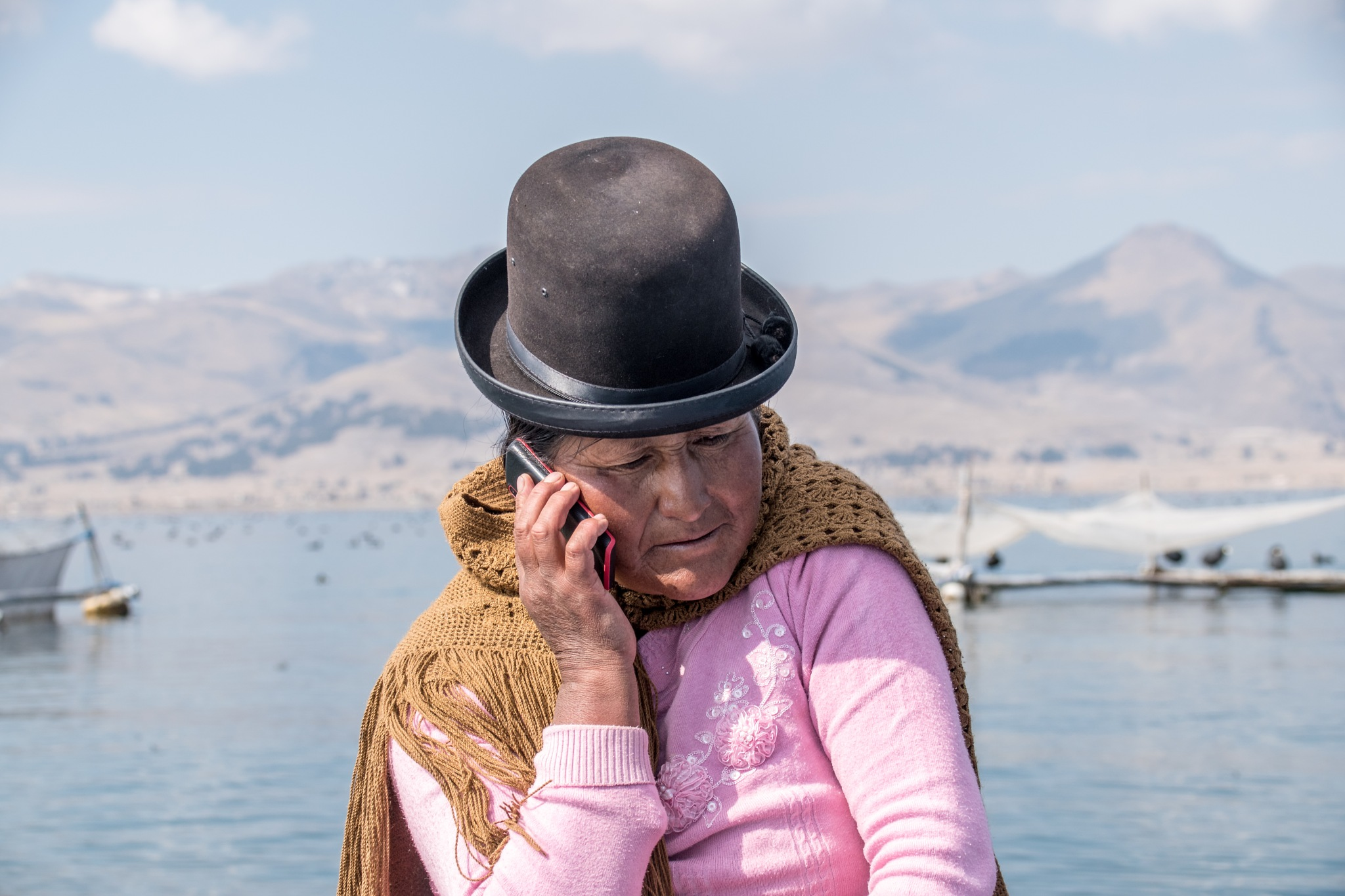 Woman from Lake Titicaca by Marianne Drews