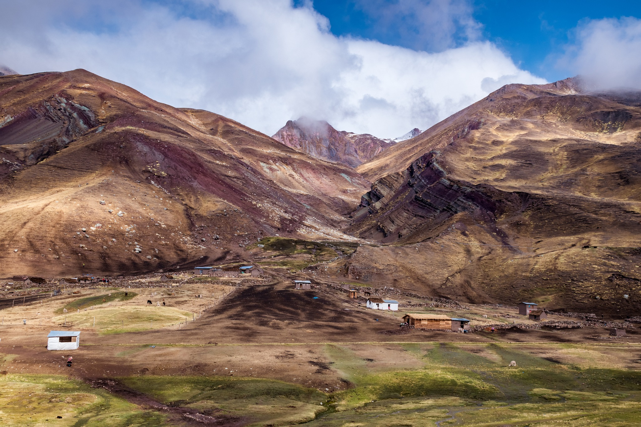 Landscape in the Andes of Peru by Marianne Drews