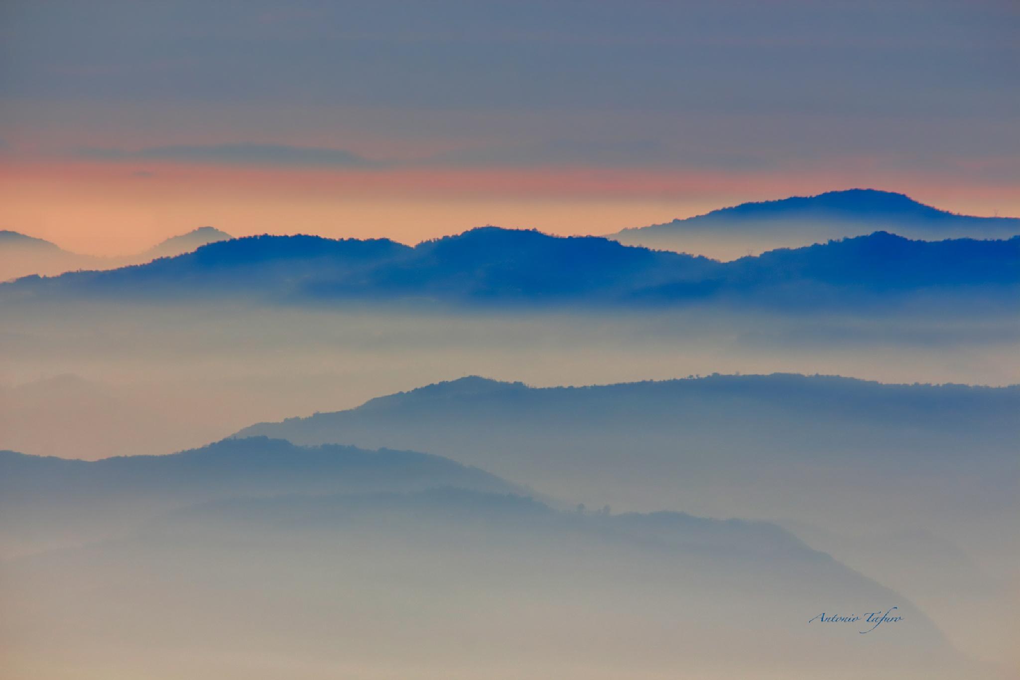 colline di sera by Antonio Tafuro