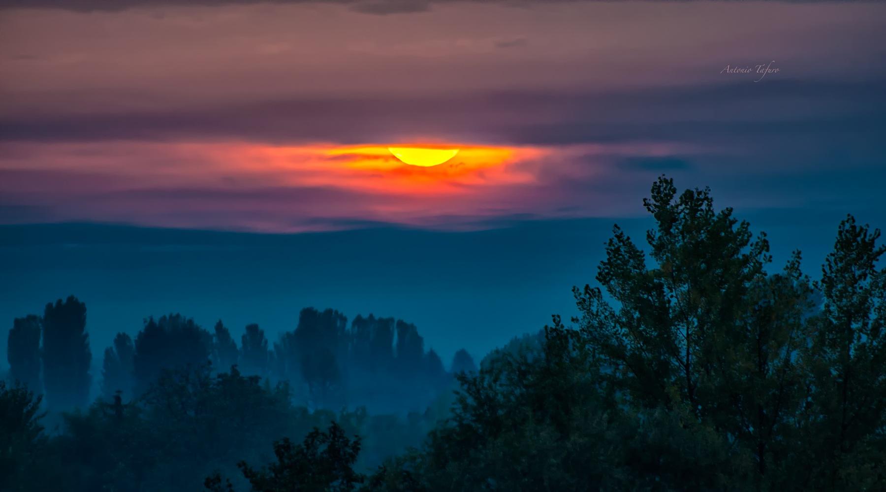 sunset by Antonio Tafuro