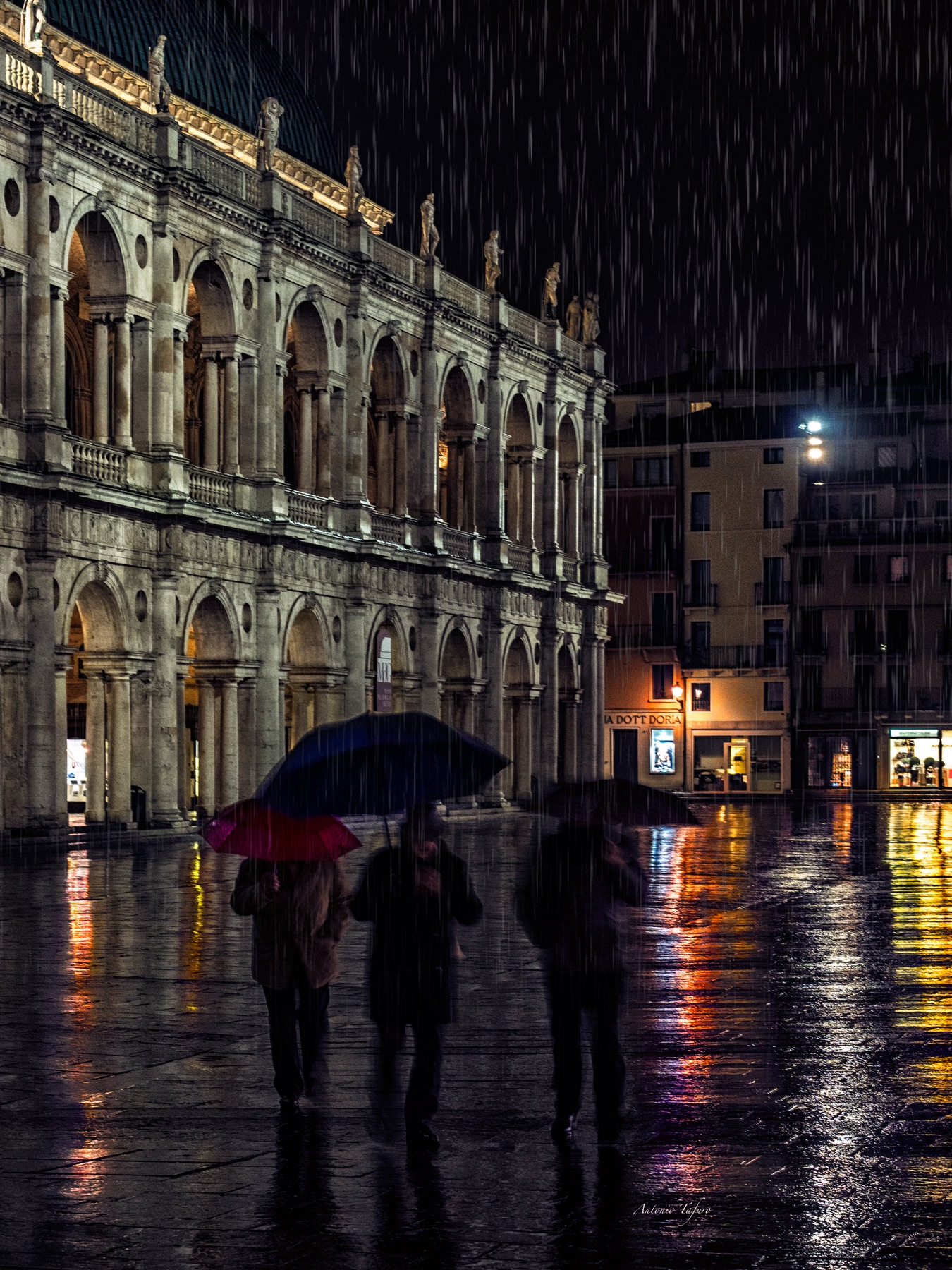 the charm of Vicenza in the rain by Antonio Tafuro