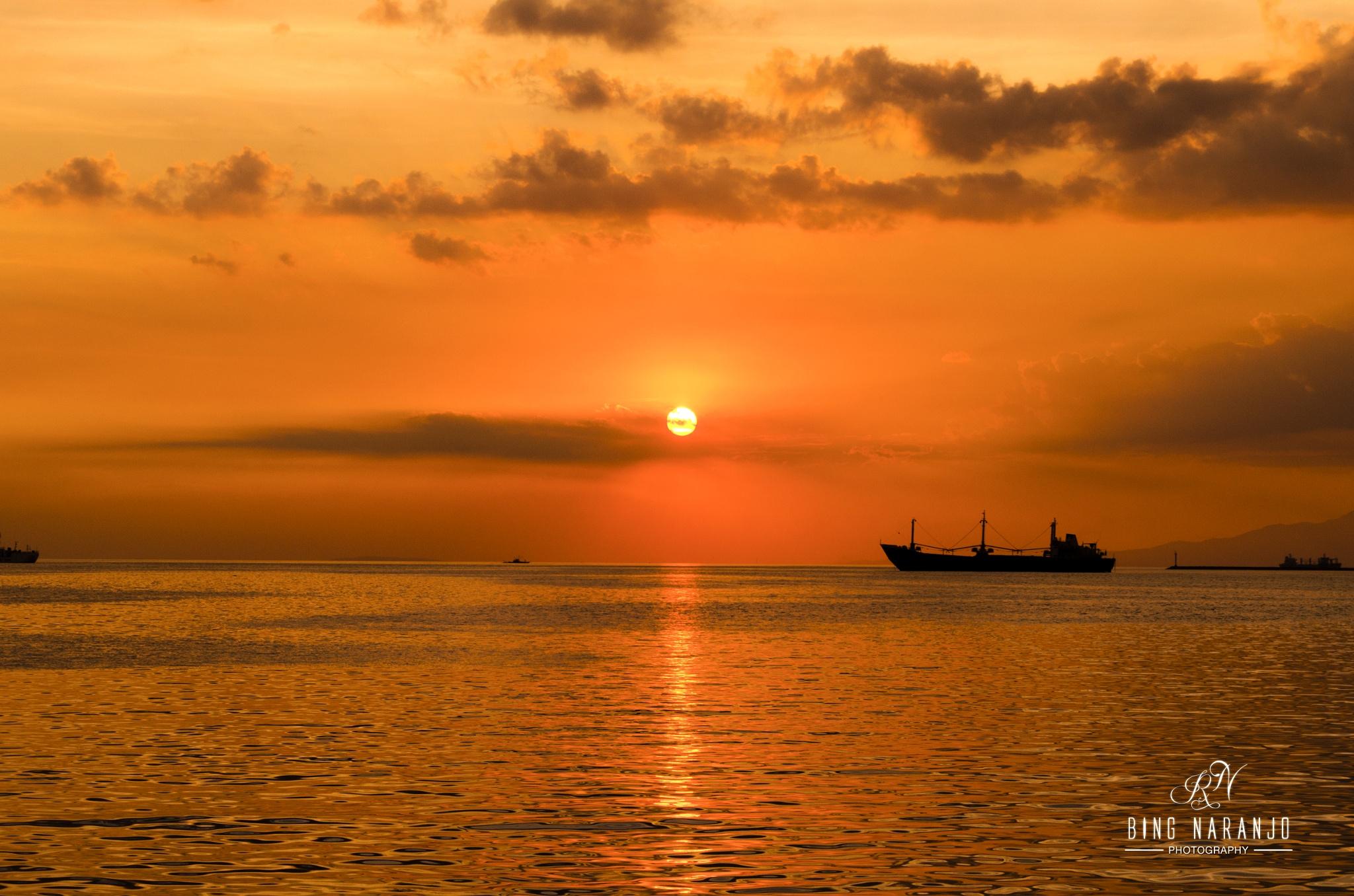 Baywalk sunset by Bing