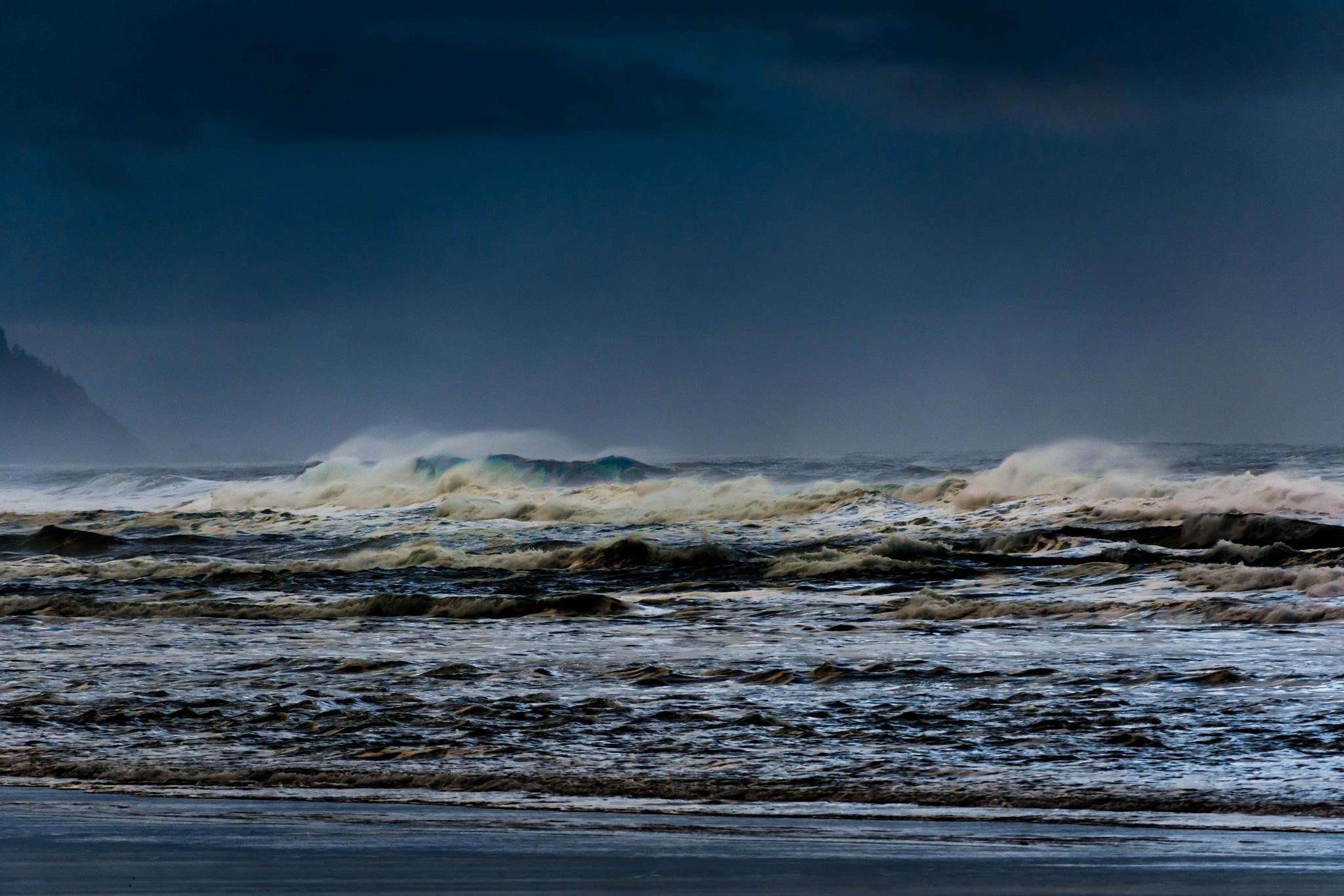 Tillamook Waves by Gillianne Fields