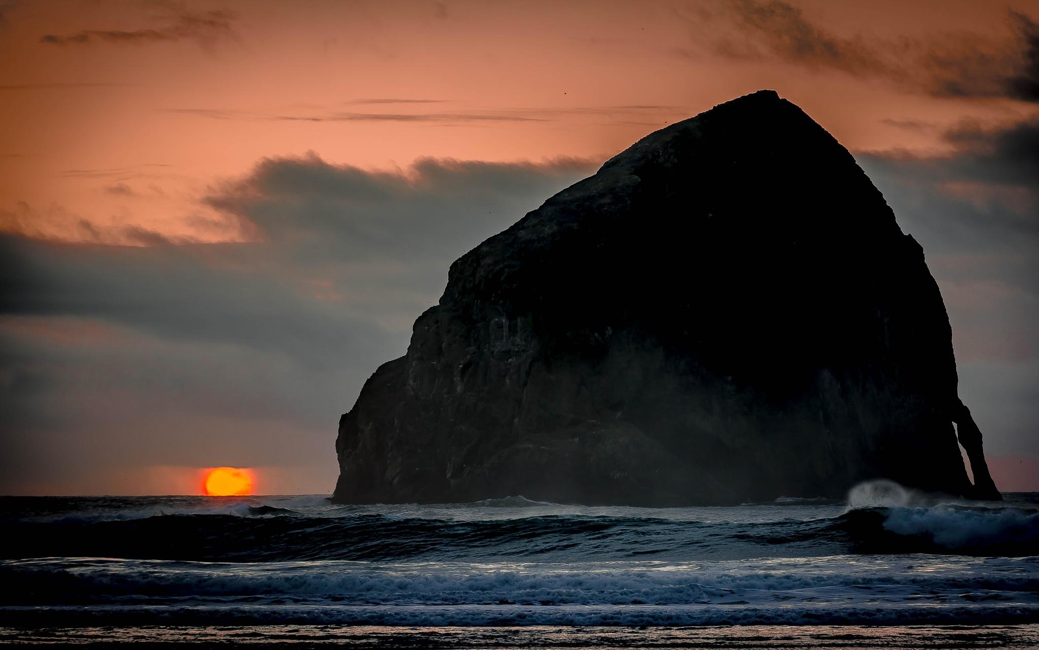 Orange Sunset by Gillianne Fields