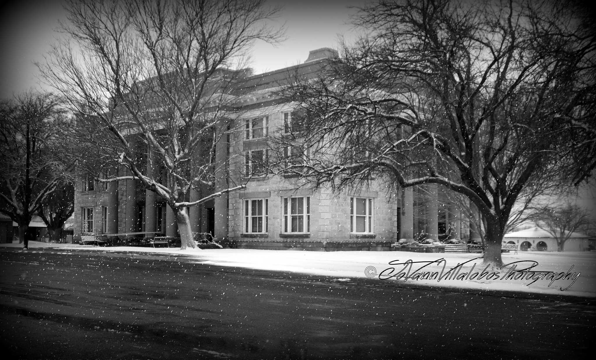 Photo in Architecture #historic #snow #courthouse #pecos county #texas