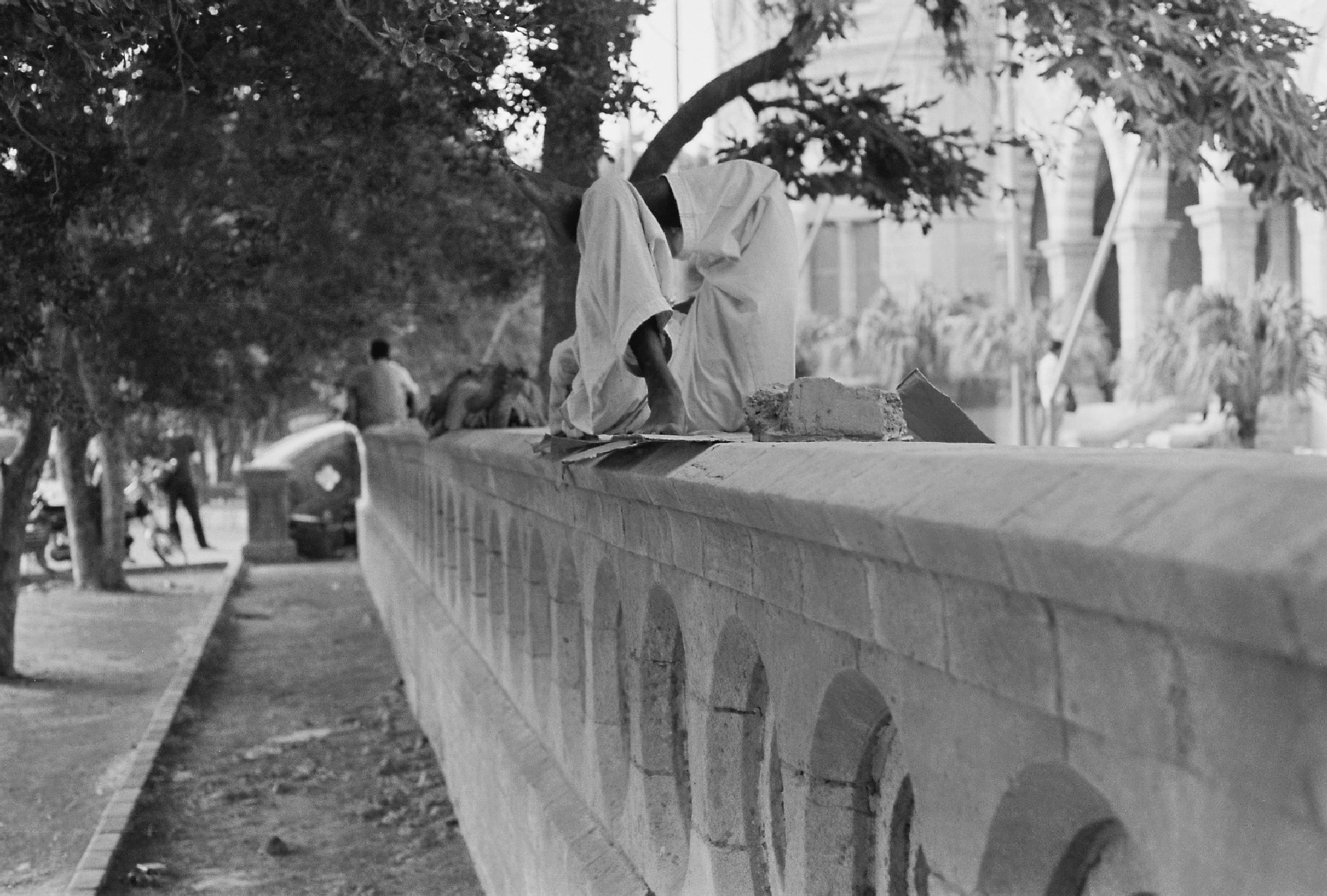Resting on the wall by Fouz