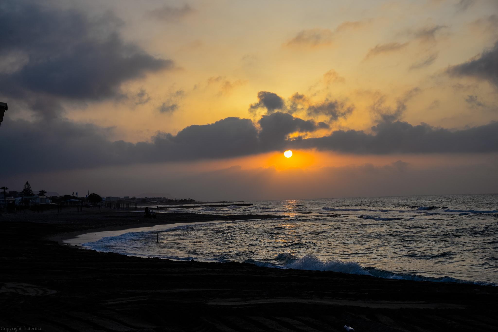 sunset... by Katerina Tsampazi