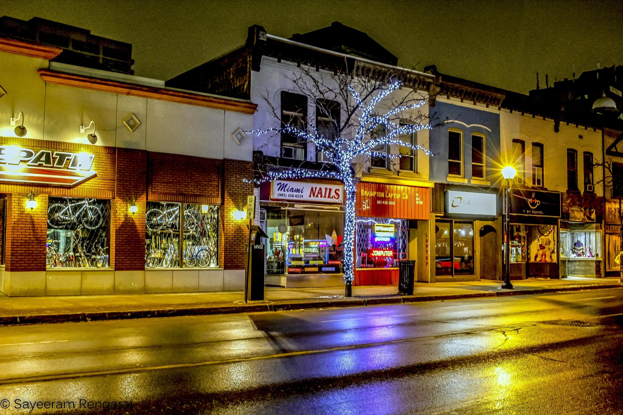 Main St. @ nights by Sayeeram Rengaraj
