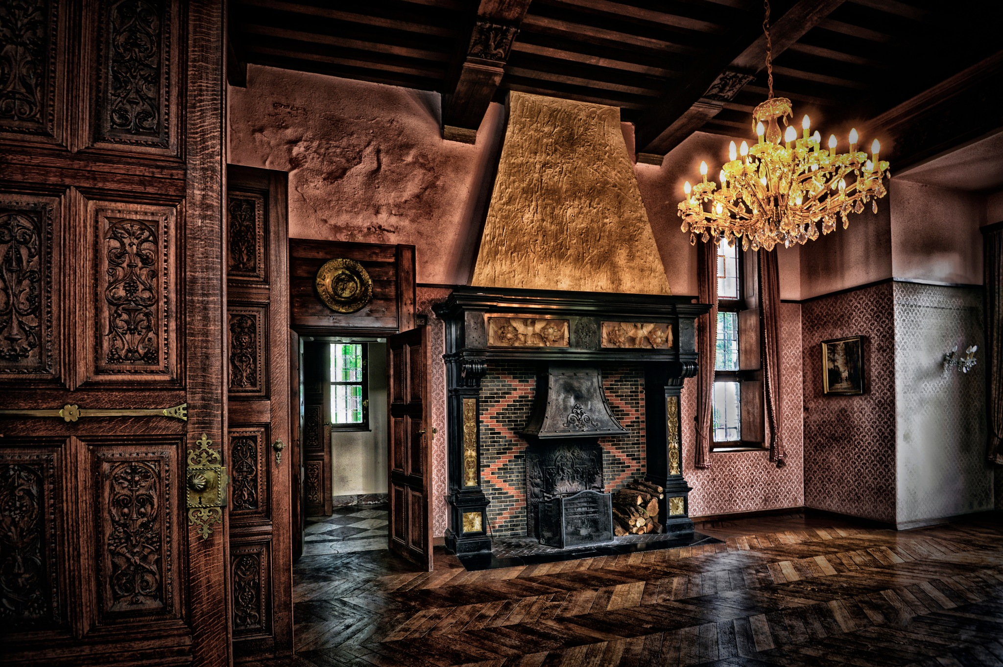 Reception room by ghislain vancampenhoudt